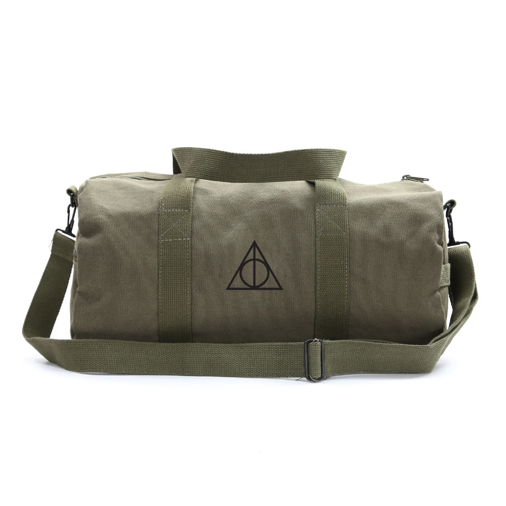 Harry Potter Deathly Hallows Symbol Durable Canvas Military