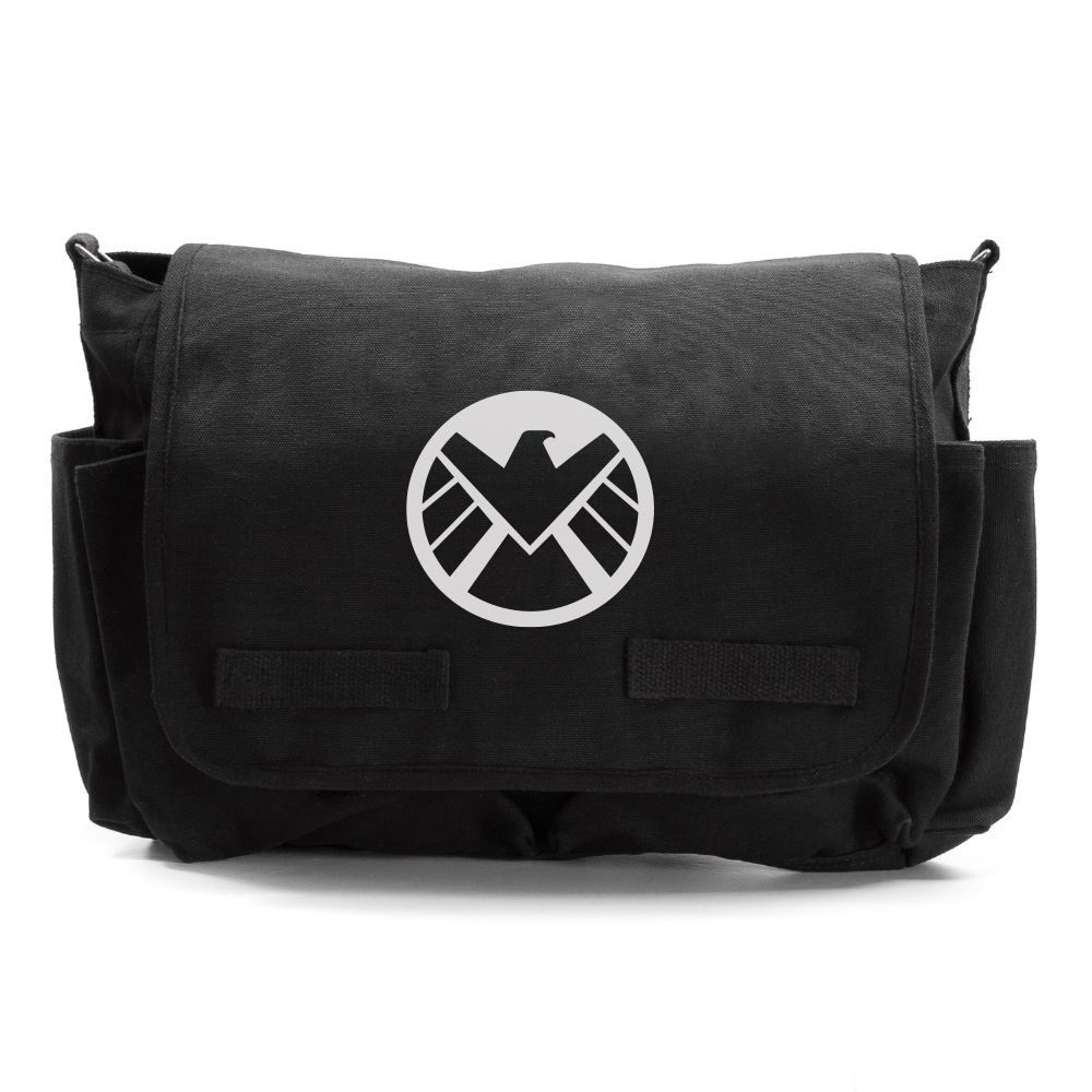 Marvel Agents of Shield Logo Durable Military School Book Laptop ...