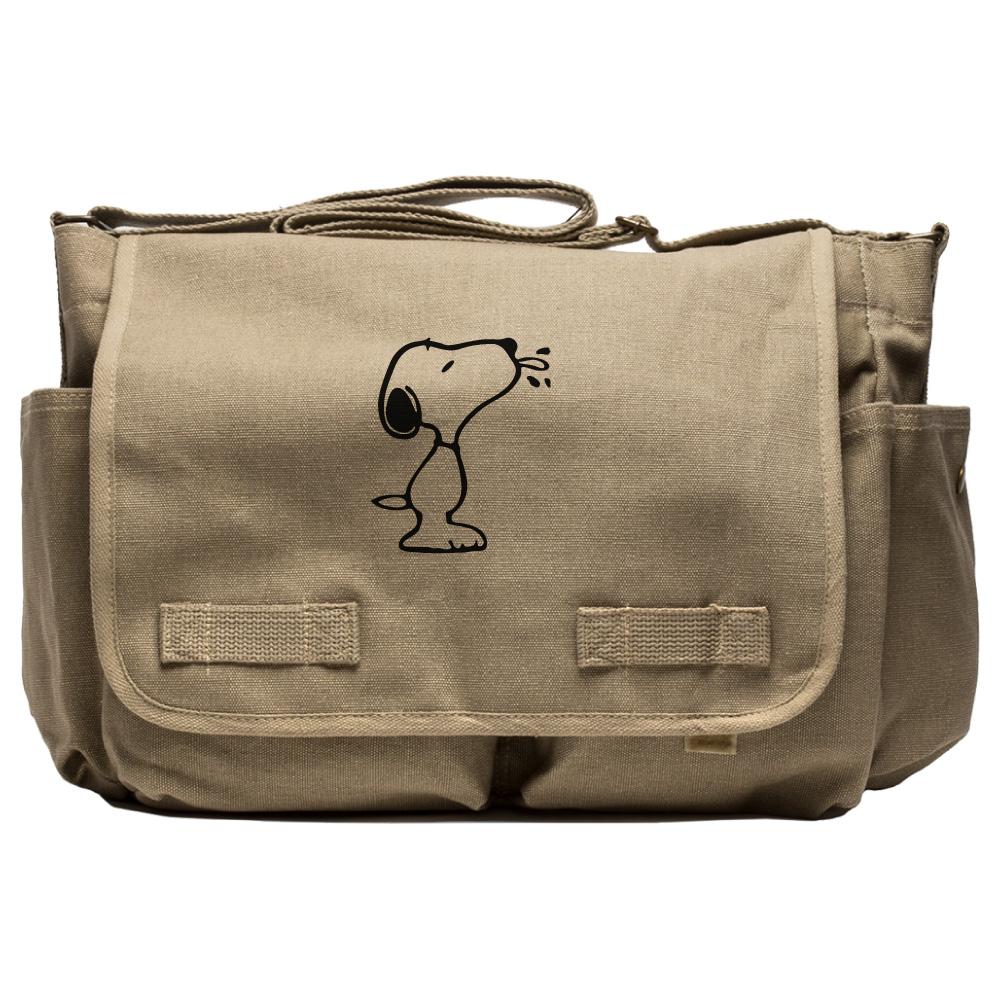 snoopy raz heavyweight canvas messenger diaper shoulder bag ebay. Black Bedroom Furniture Sets. Home Design Ideas