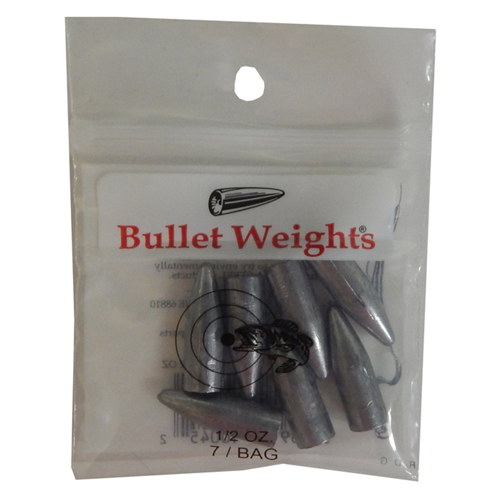 Bullet weight slip sinkers 1 12 ounce pack of 7 bw12 ebay for Bullet weight fishing
