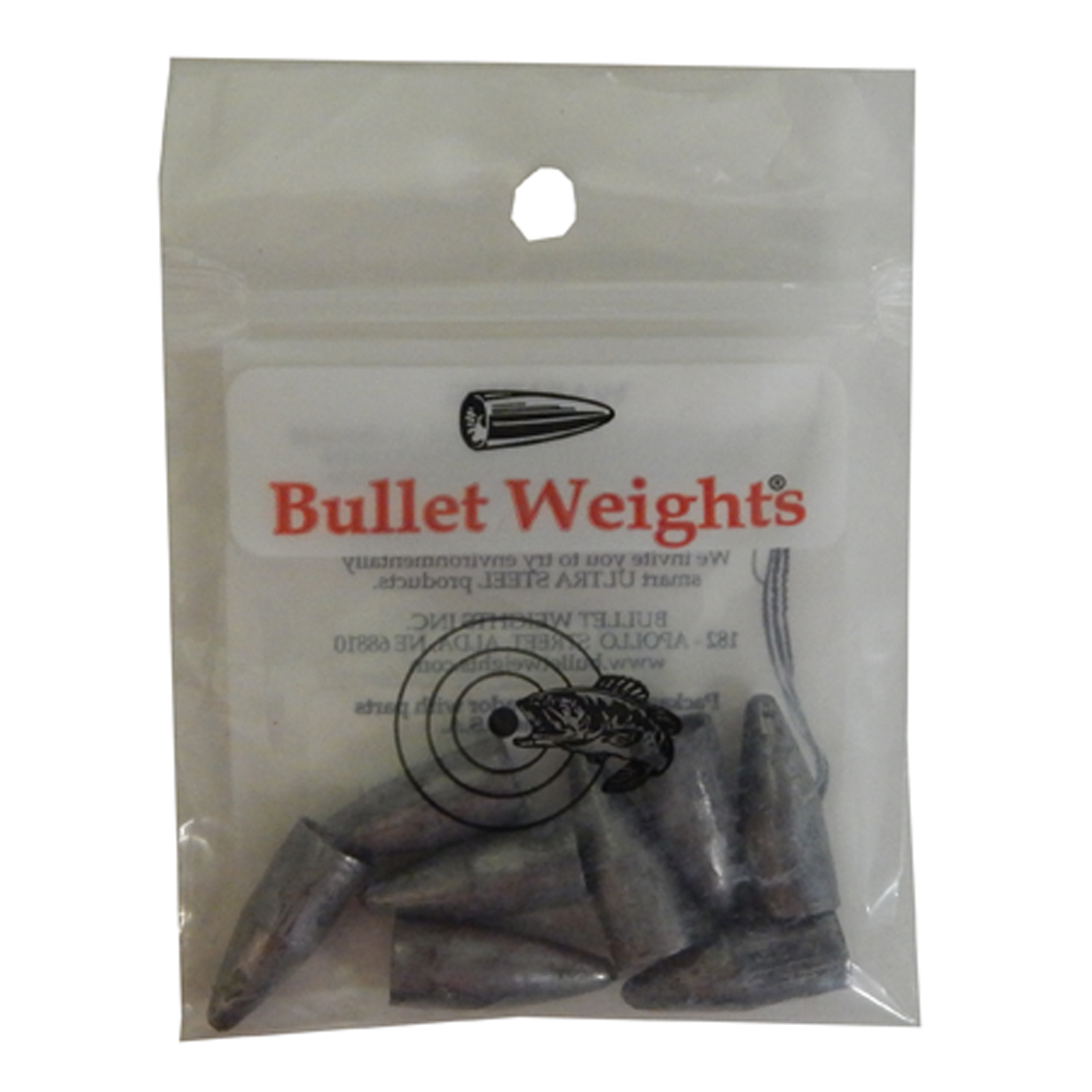 Bullett weight bw38 slip sinkers 3 8 ounce pack of 8 ebay for Bullet weight fishing