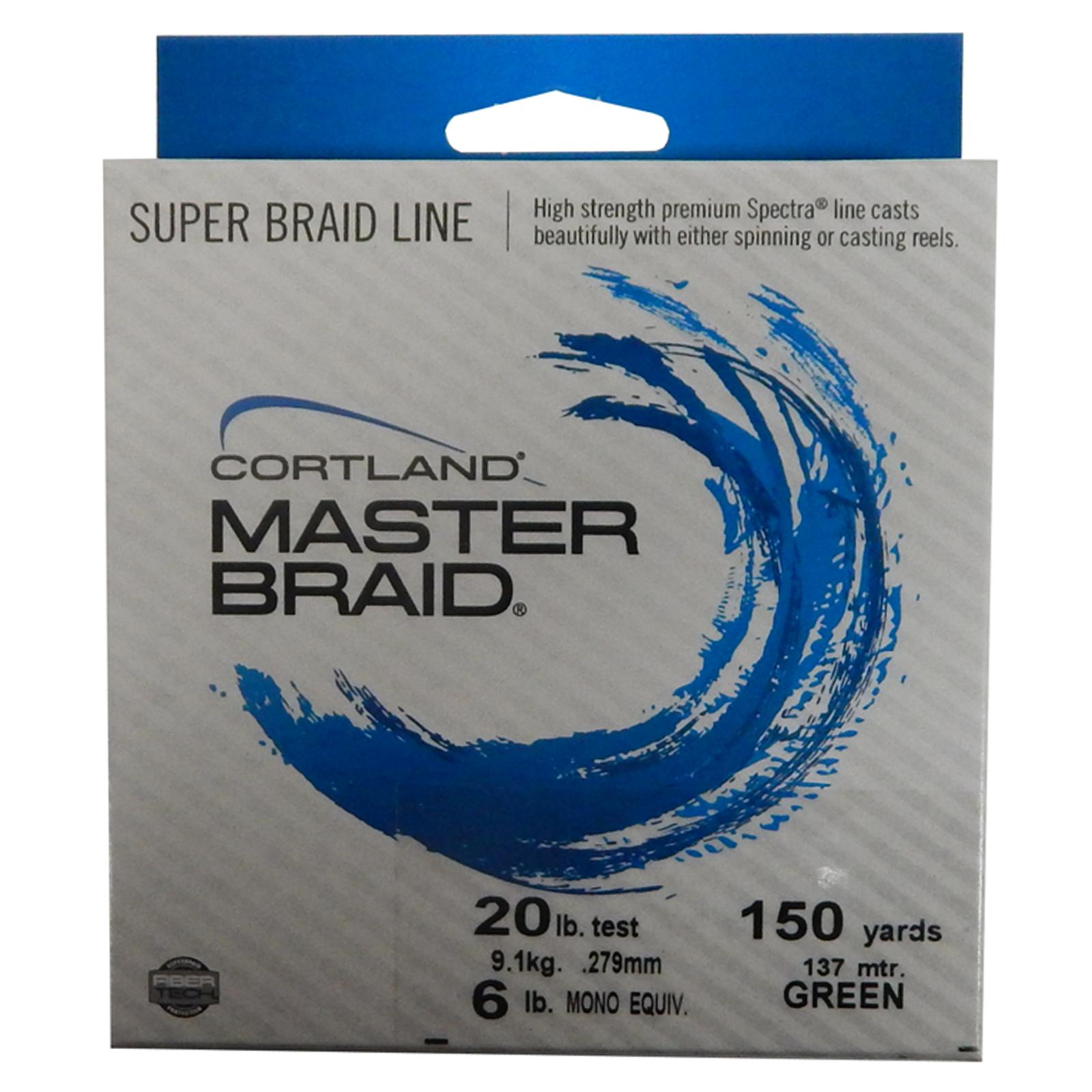 158610 cortland master braid premium super fishing line 20 for 20 lb fishing line