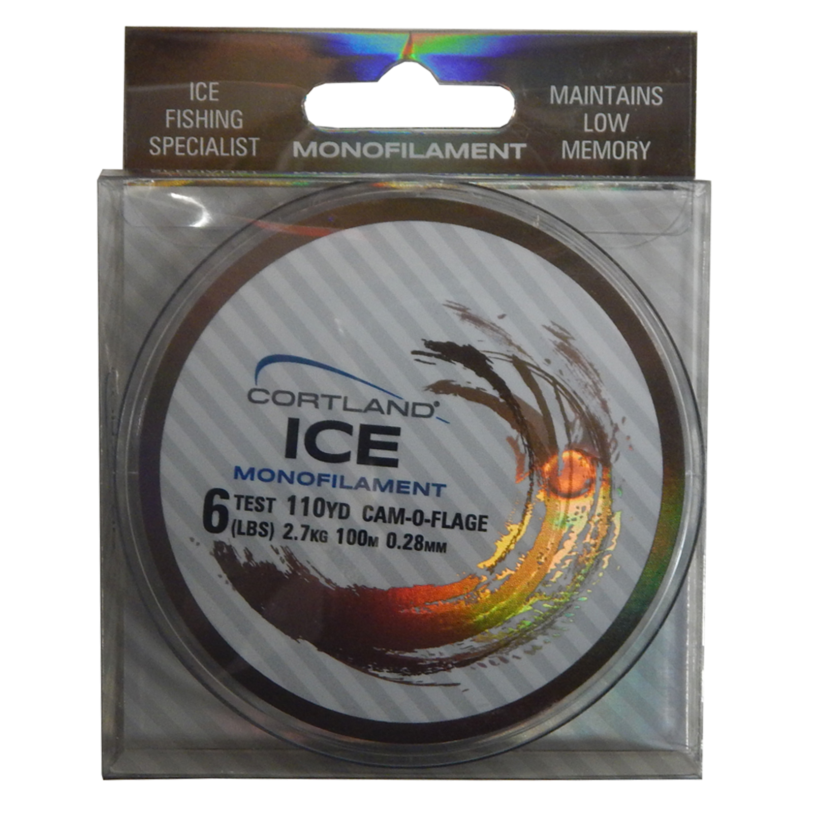 Cortland 283725 ice monofilament fishing line 6 lb test for Fishing line test