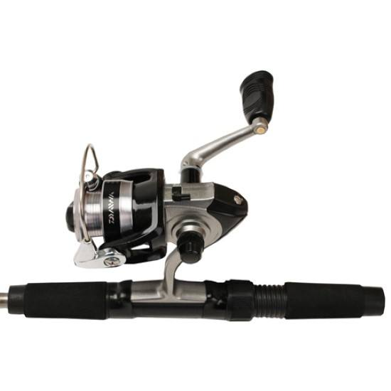 Daiwa mini spin ultra light spinning 4 39 6 reel and rod for Ultra light fishing reel