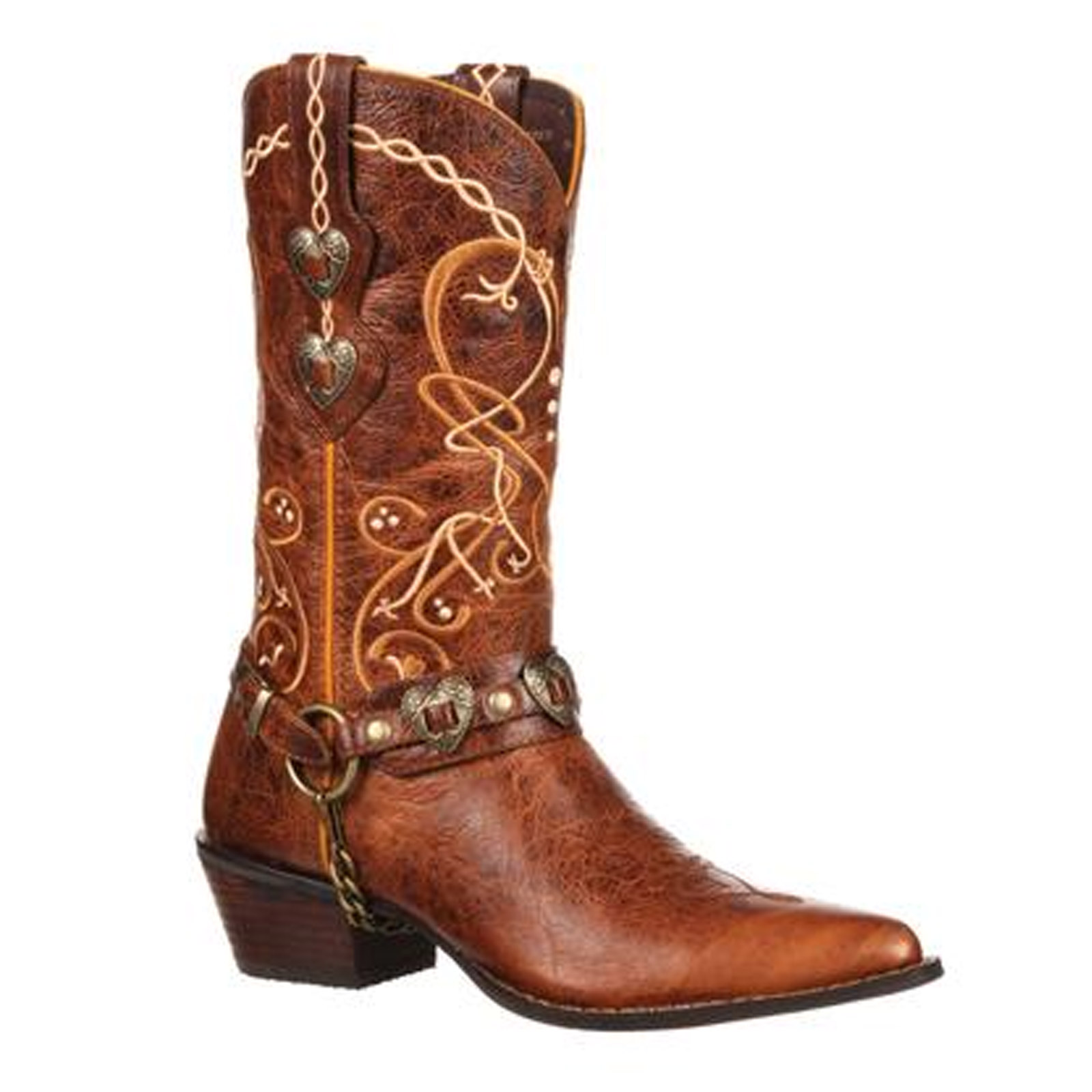Fantastic Durango Women39s Crush Leather Heartfelt Cowboy Western Boots Light