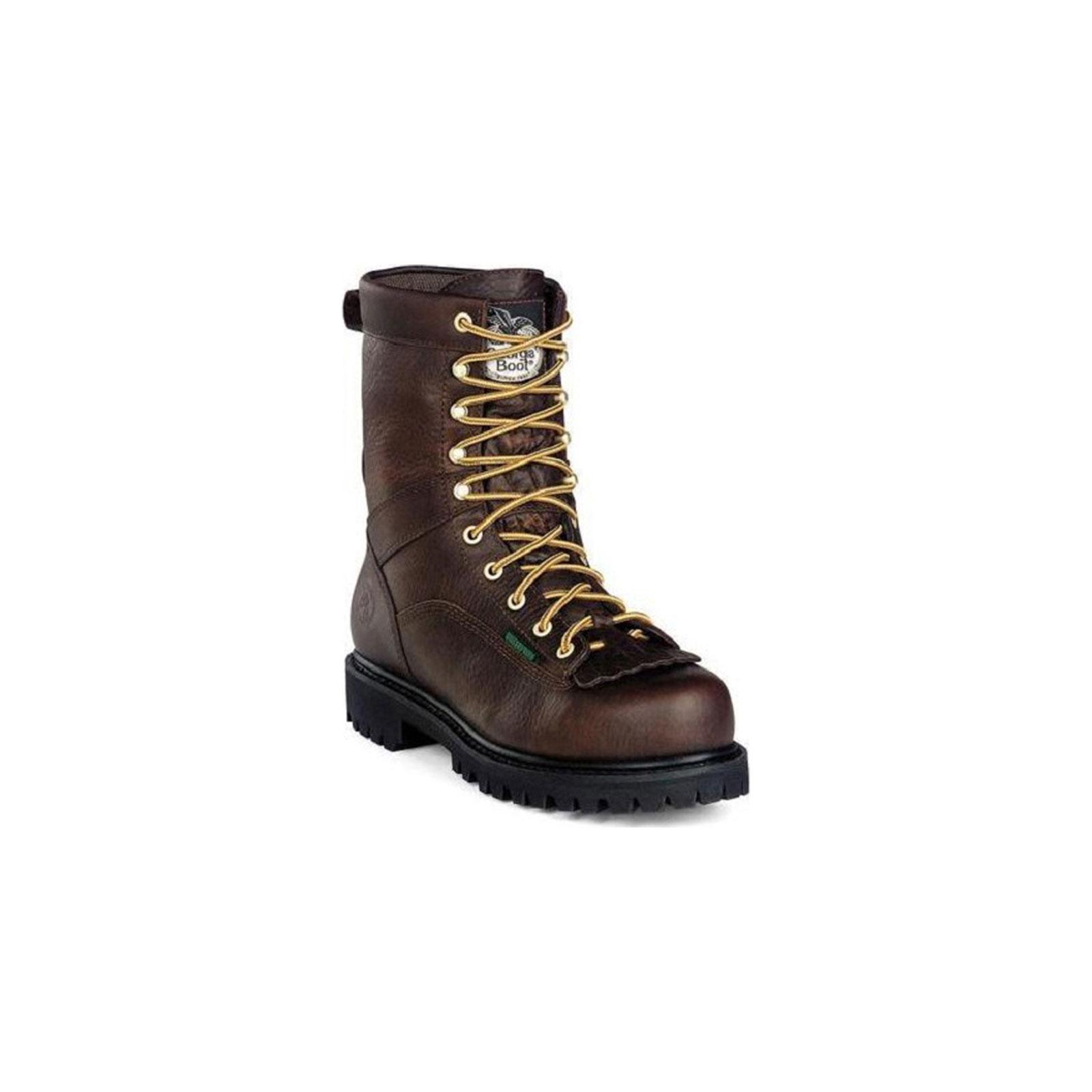 g8041 s waterproof low heel logger work boot