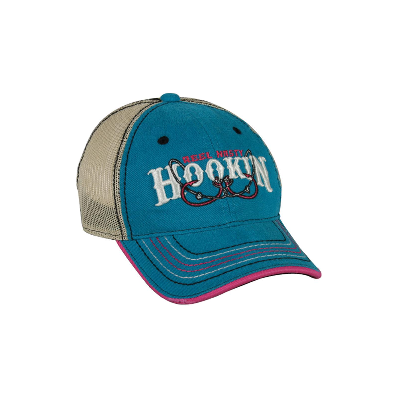 Outdoor cap womens reel nasty hookin fishing baseball for Womens fishing hat