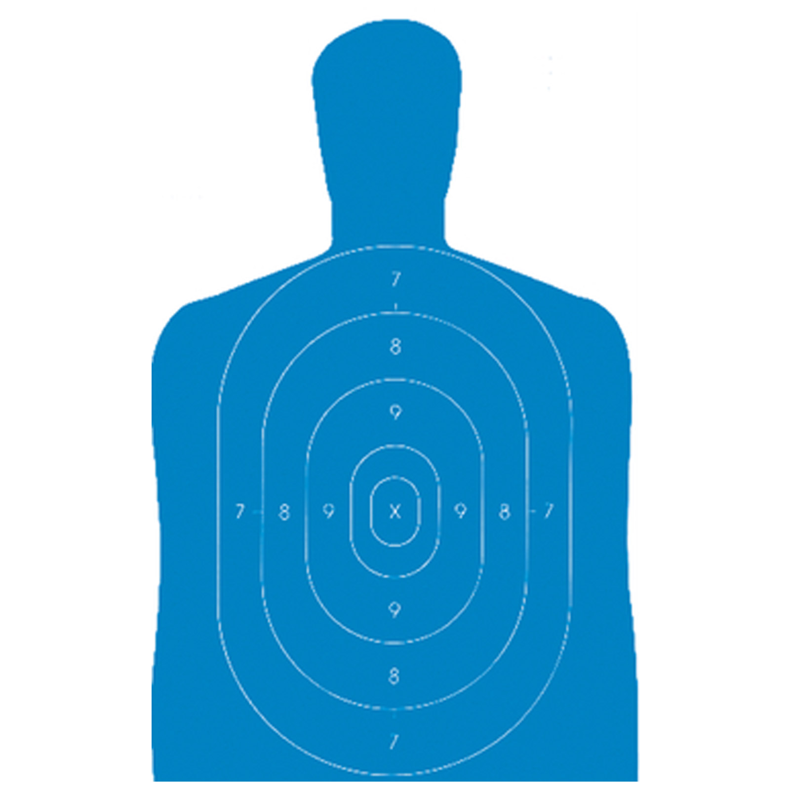 Targets b 27e blue ind b 27e economy silhouette target 23x35in ebay