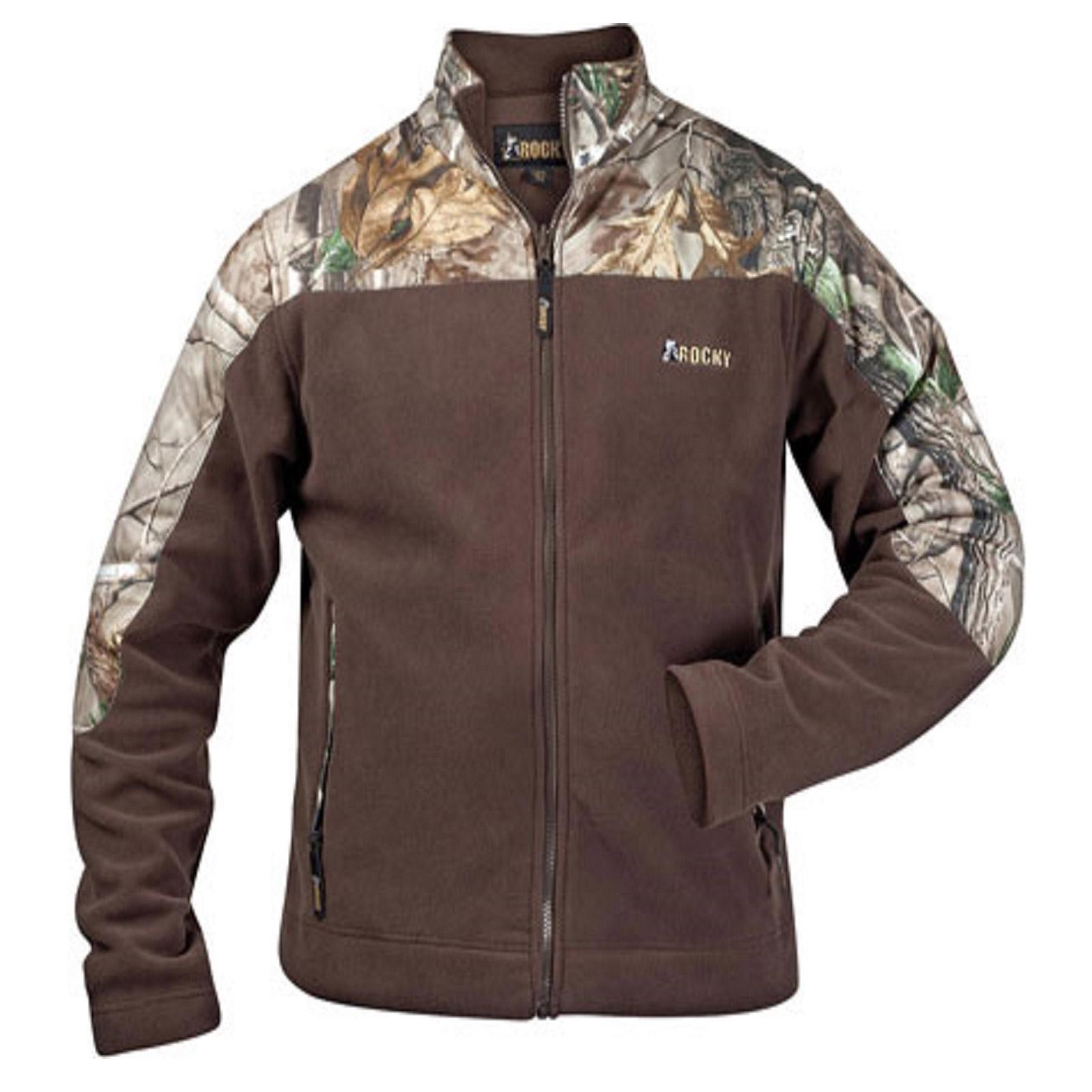 Mens jacket fleece - Instock Rocky 609476 Mens Casual Lifestyle Fleece Jacket