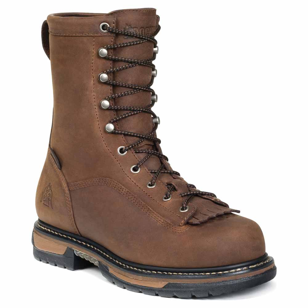 Rocky FQ0006698 Mens IronClad Steel Toe Waterproof Brown ...