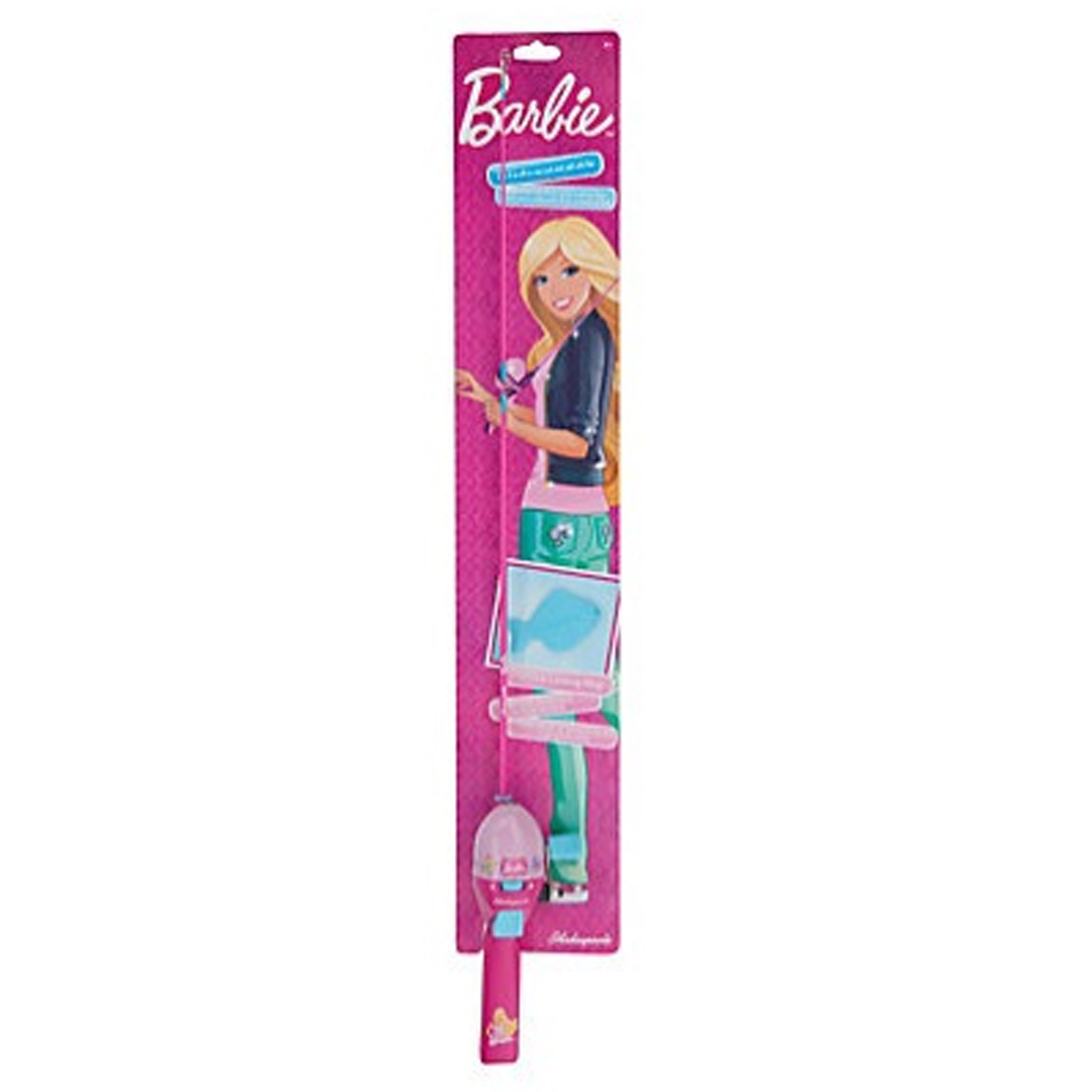 Shakespeare 2 39 6 1 piece youth barbie spinning rod reel for Barbie fishing pole