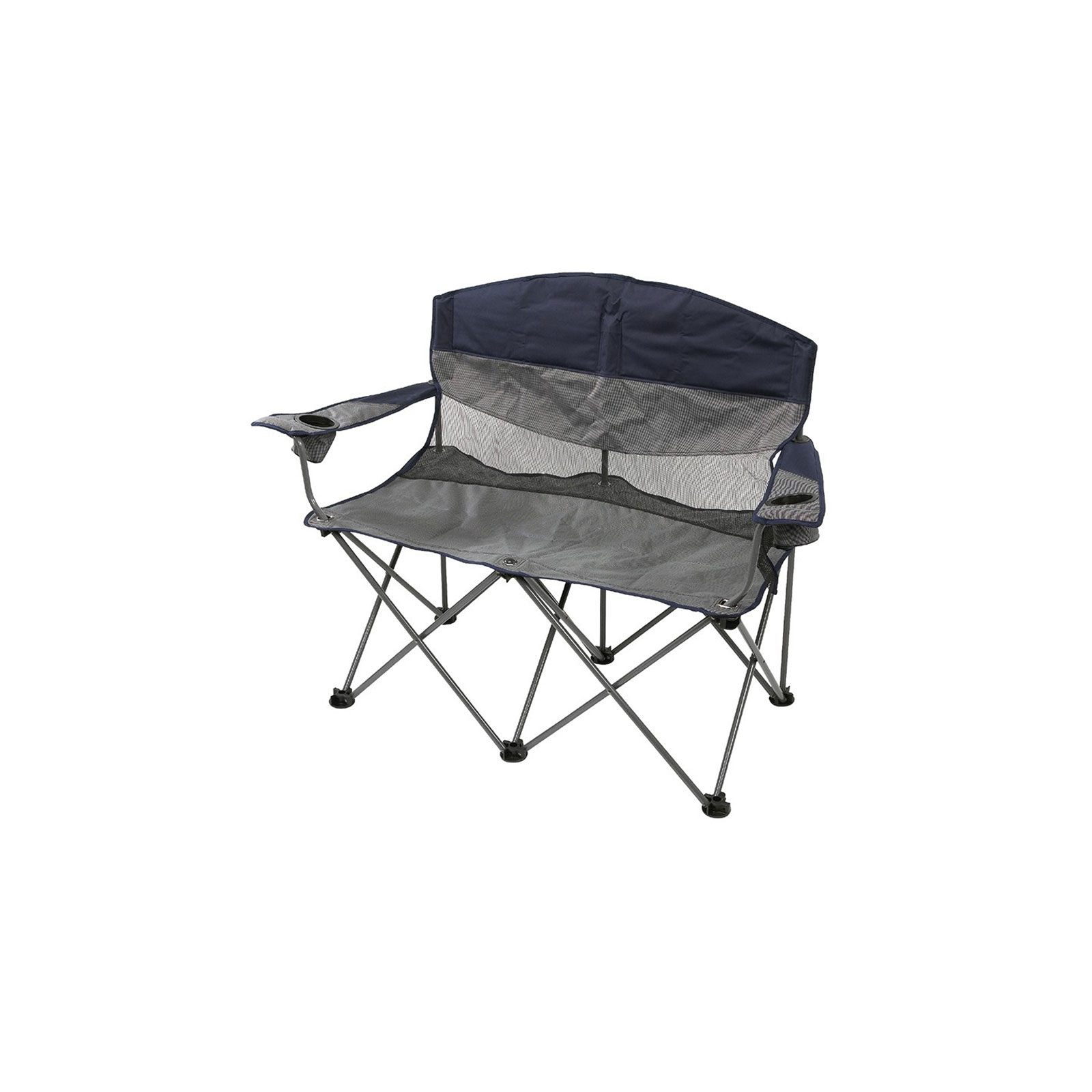 Stansport G 480 Apex Double Seat Folding Bag Chair Navy Gray