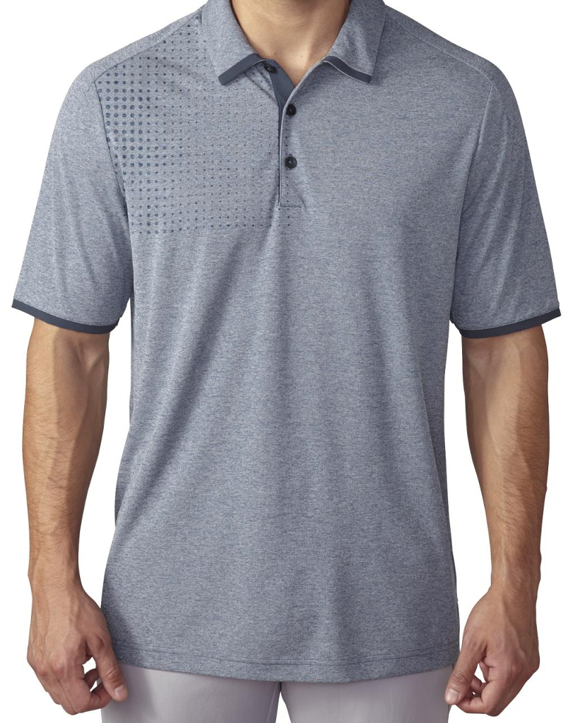New 2016 Adidas Golf Climachill Dot Fade Heathered Polo