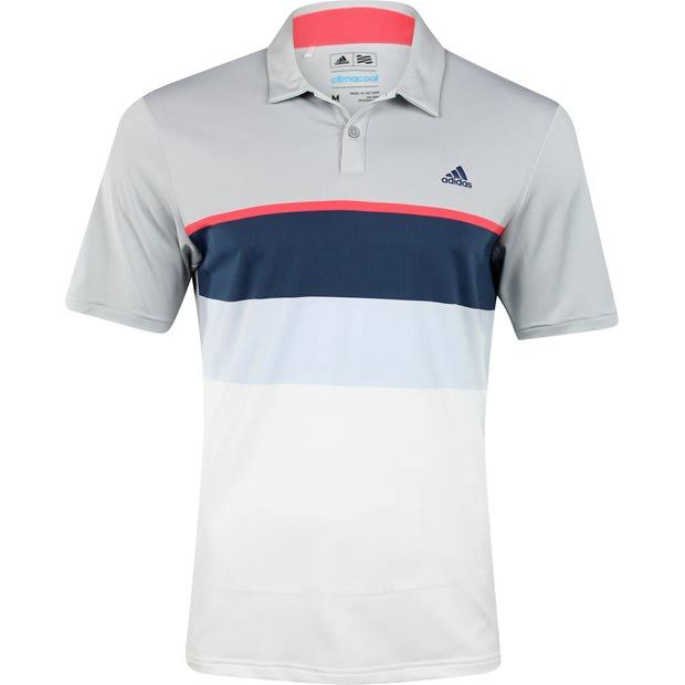New 2016 Adidas Golf ClimaCool Engineered Striped Polo Shirt - Pick Size & Color