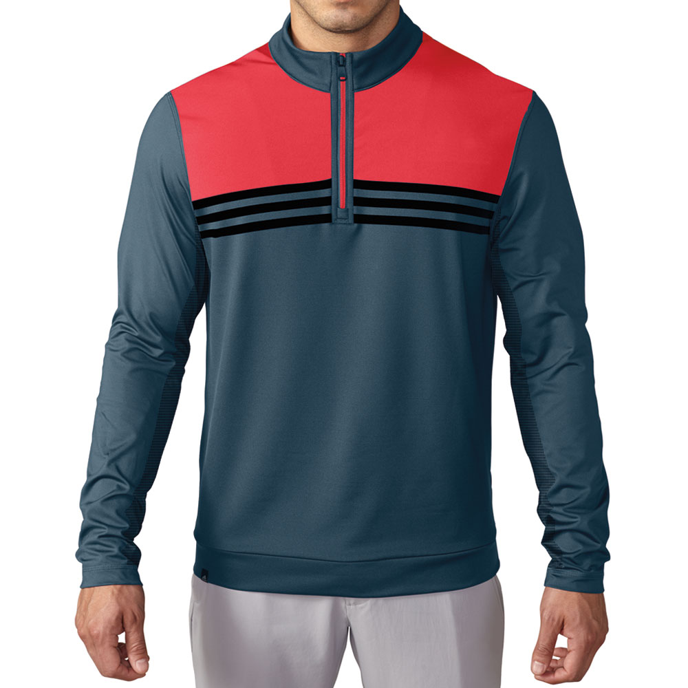 new adidas 2016 climacool colorblock 1 4 zip pullover layering top ebay. Black Bedroom Furniture Sets. Home Design Ideas