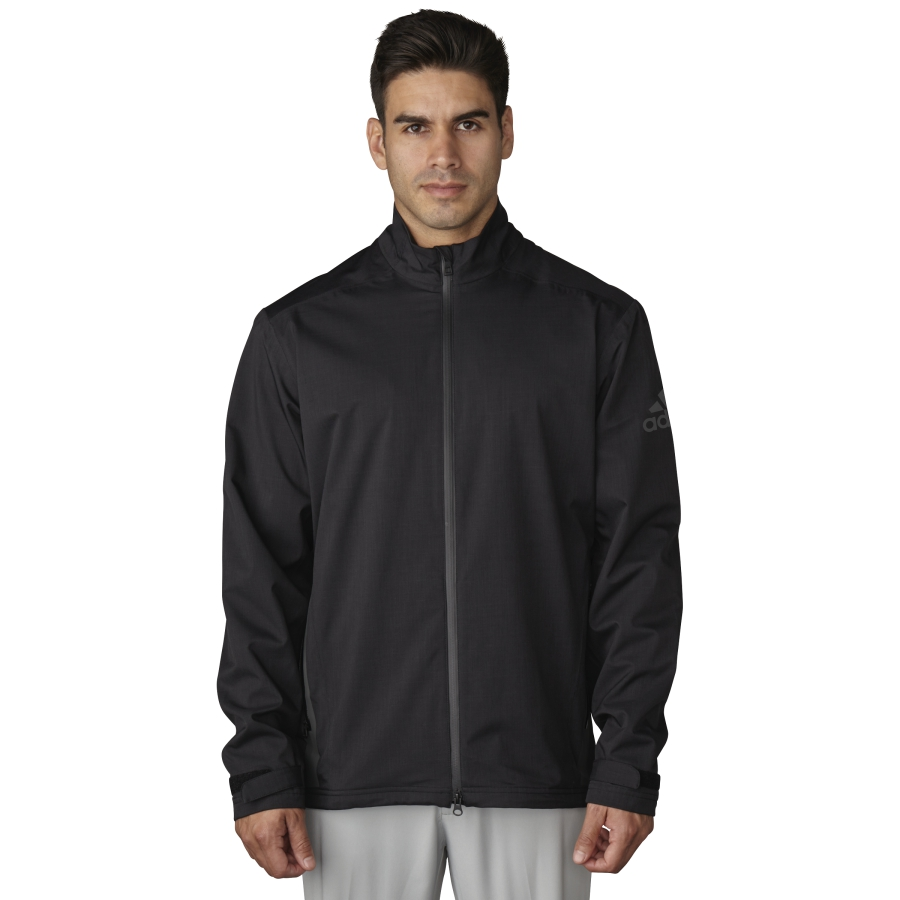 Adidas golf 2017 climaproof heather rain jacket pick for Adidas golf rain shirt