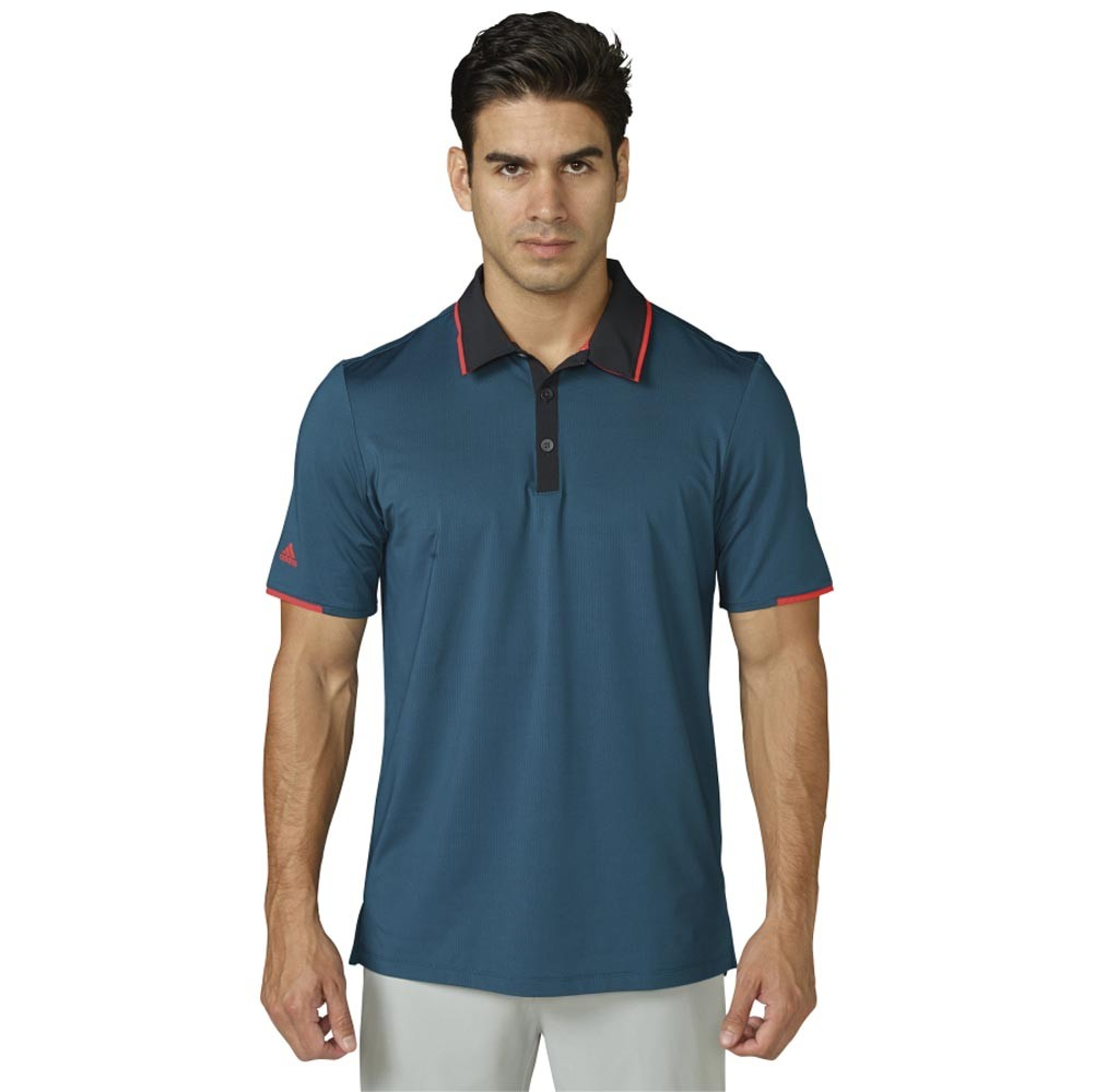New 2016 Adidas Golf Climacool Tipped Performance Polo