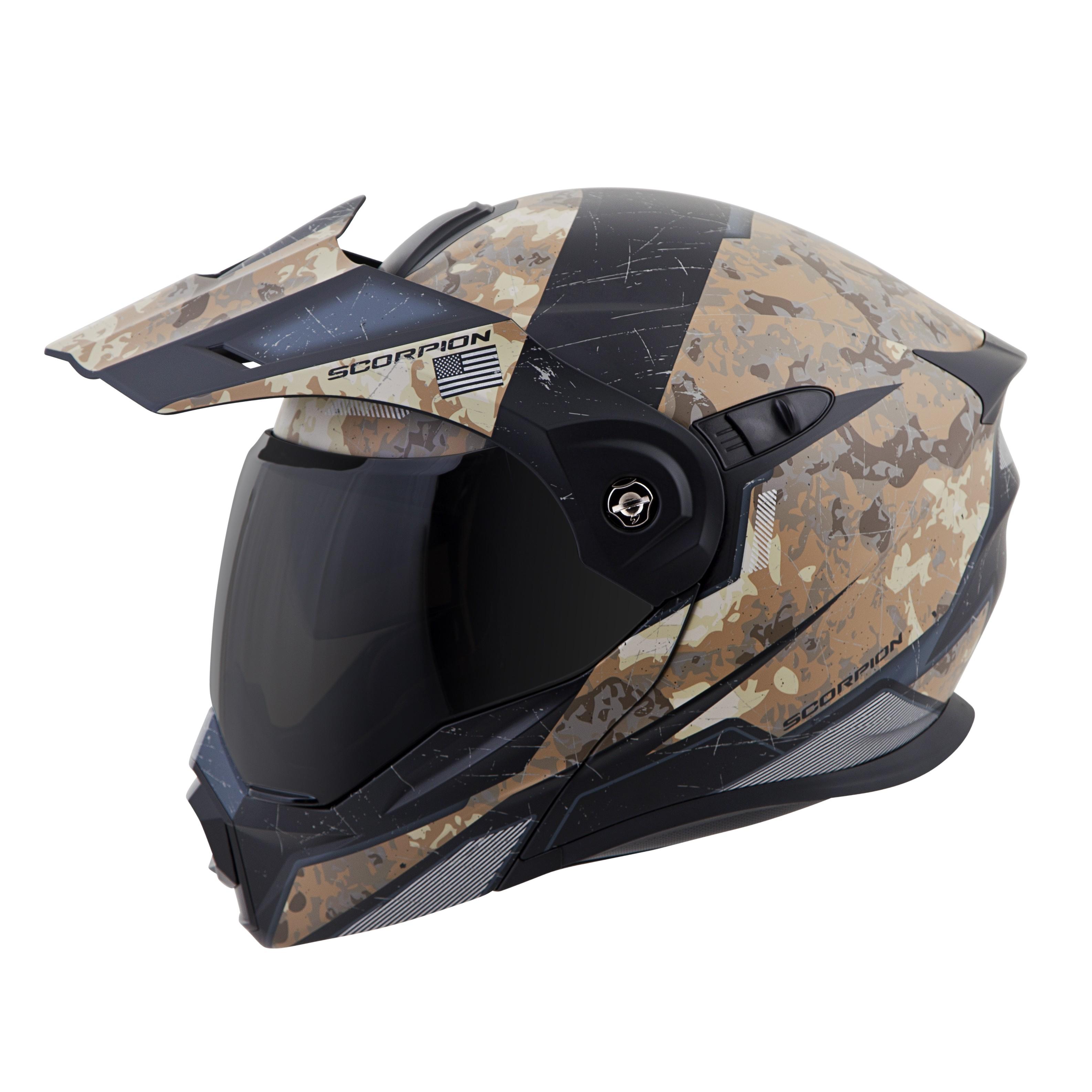 scorpion exo at950 battleflage motorcycle street helmet. Black Bedroom Furniture Sets. Home Design Ideas