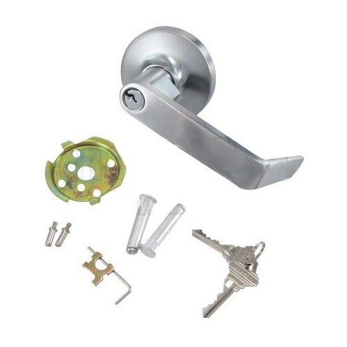 Best Lever Handle Lock : Chrome panic bar lever handle lock ebay