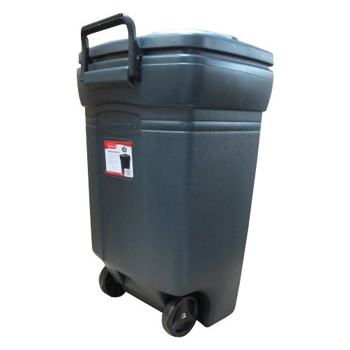 45 gallon rubbermaid green trash can w wheels available for local pick up only greschlers hardware