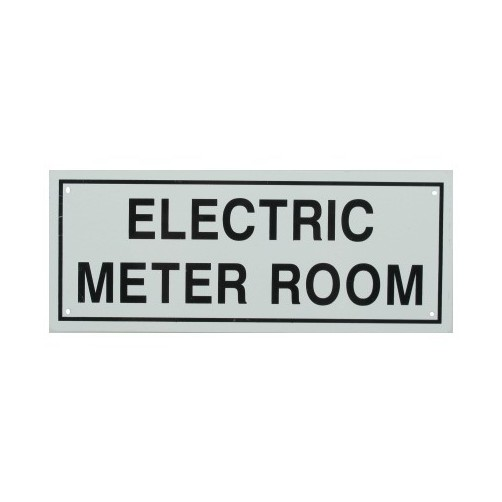 Electric Meter Cans Sign : Quot electric meter room metal sign ebay