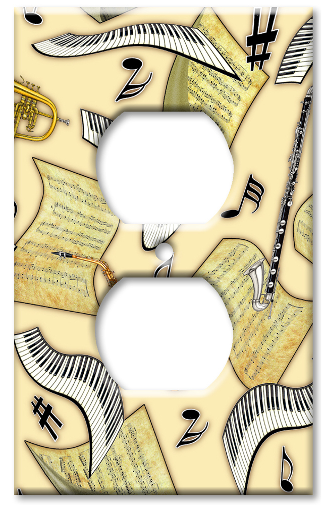 Art Plates Art Plates brand - Music in the Air - Outlet Cover Switch Plate