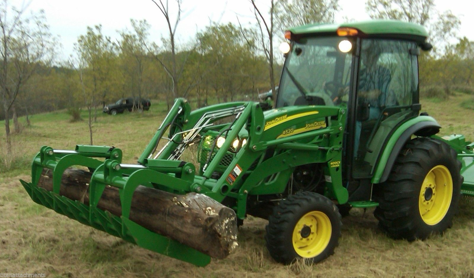 Jd Tractor Forks : Root grapple bucket attachment for john deere