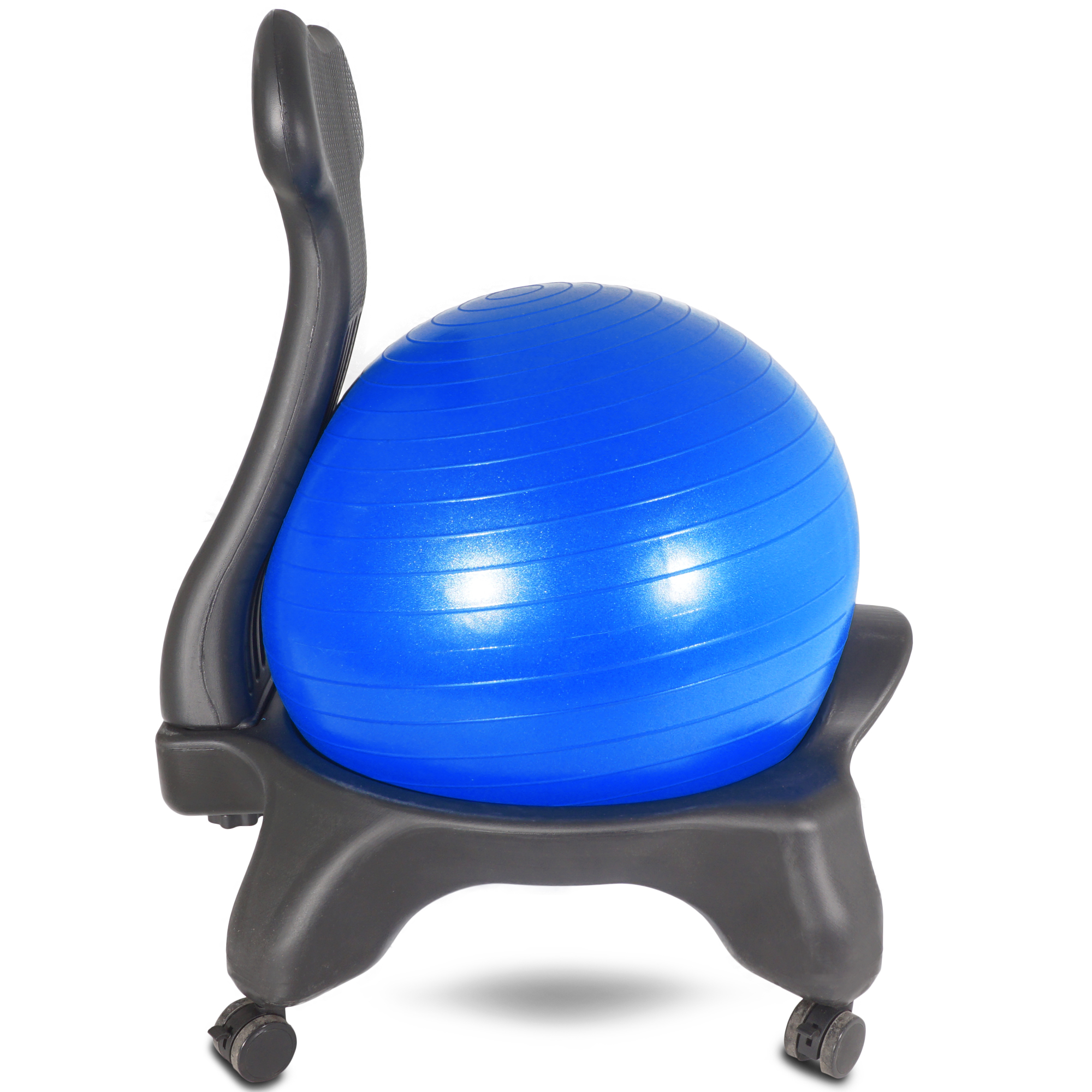 Balance Ball Blue: Titan Fitness Adjustable Exercise Balance Fit Black Blue