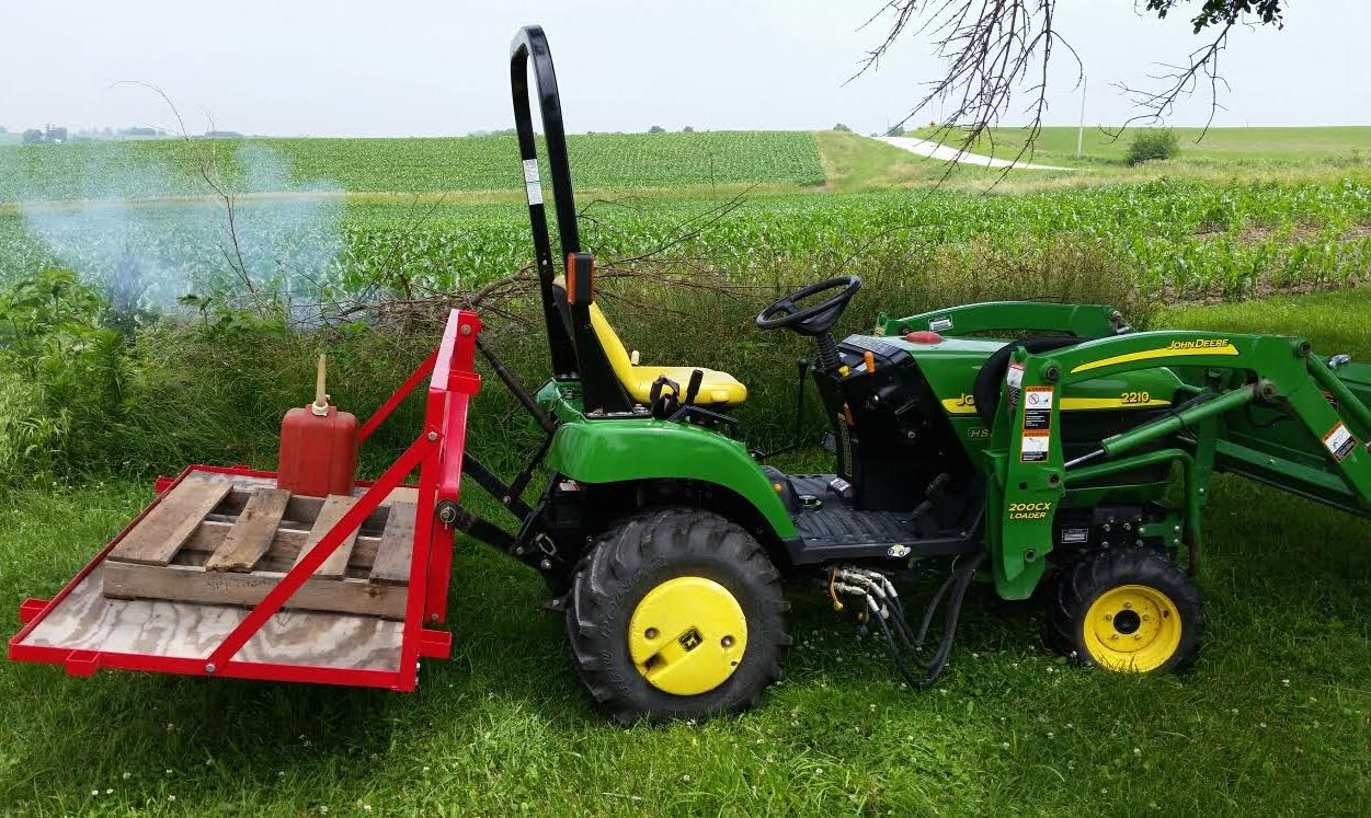 Tractor With Platform : Ft carry all cat point hitch steel optional wood
