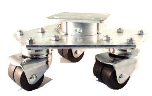 "Access Casters Inc. Triple Swivel Dollies, 2"" Dual Neoprene Wheels, 600 lbs Capacity at Sears.com"