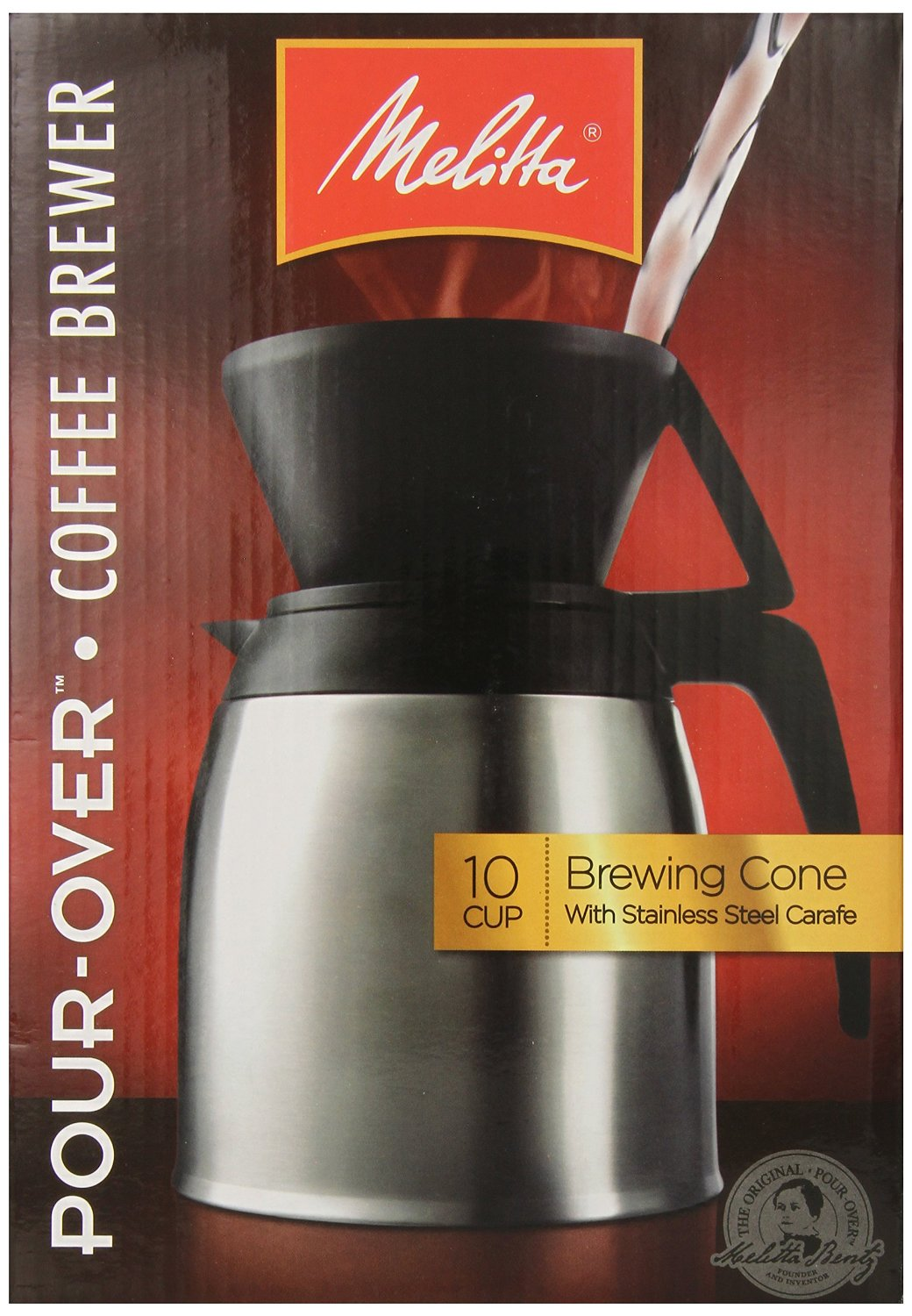 Pour Over Coffee Maker Recommendations : Melitta, Stainless Steel Pour-Over Thermal Carafe, 64104 eBay