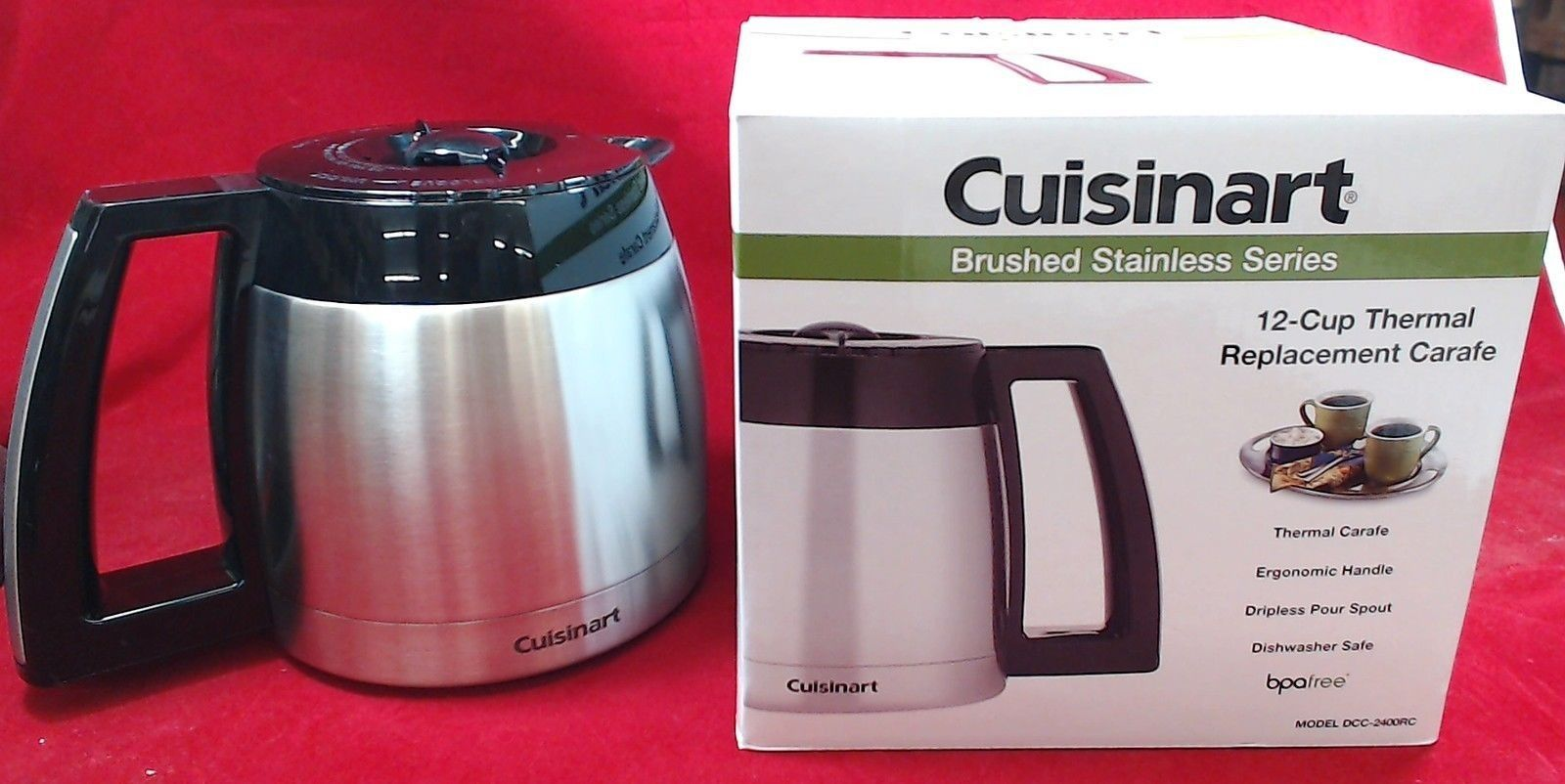 Coffee Maker Stainless Carafe : Cuisinart Coffee Maker 12-Cup Stainless Steel Carafe, DCC-2400RC eBay