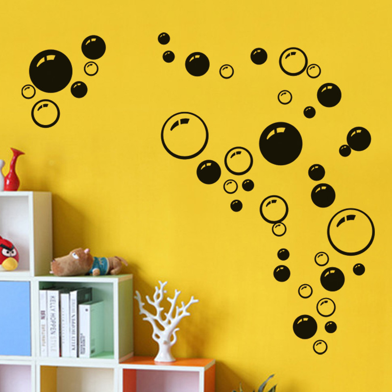 Bathroom Wall Art Bubbles : Bubbles wall stickers vinyl mural decal car bathroom kid