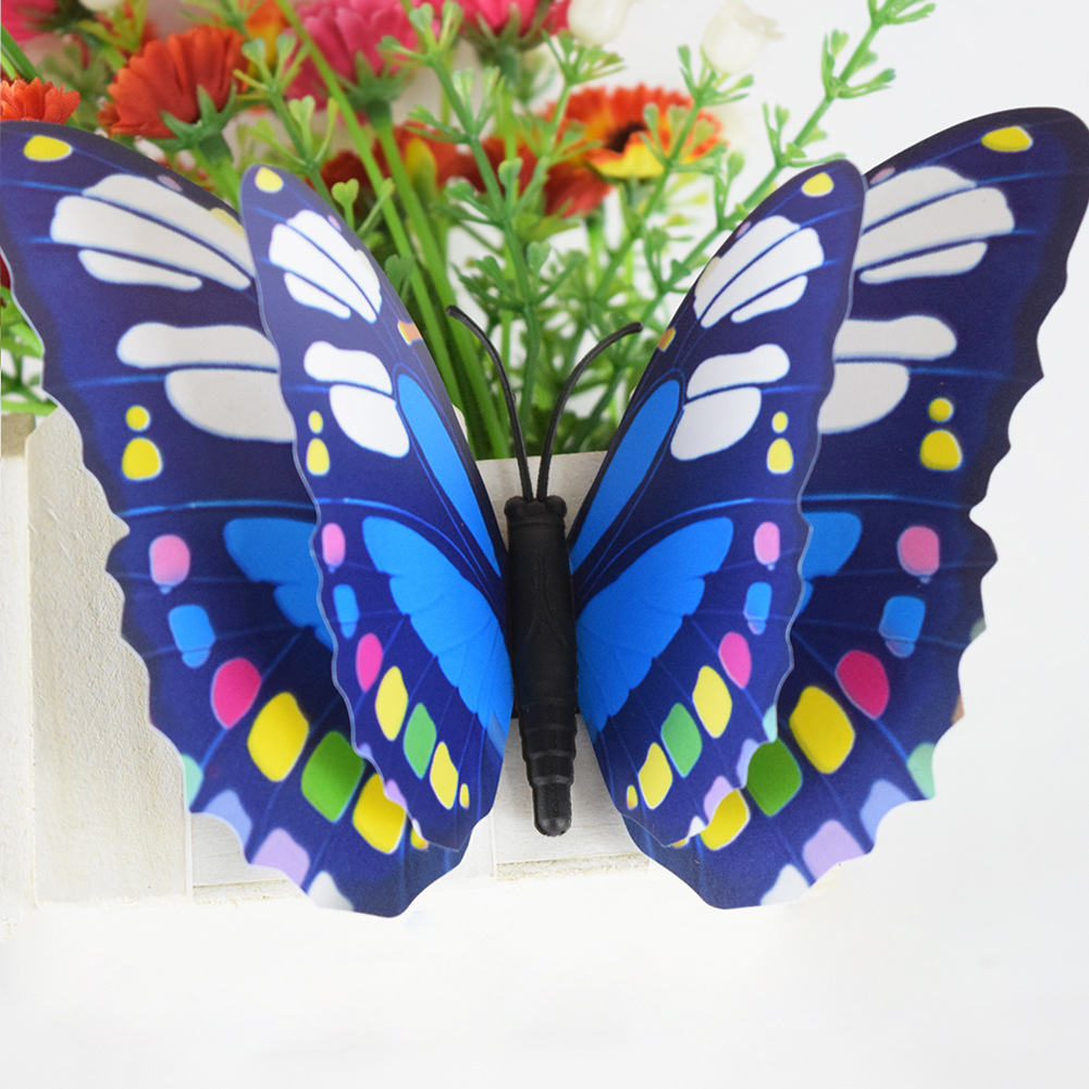 double deck 3d colorful simulation butterfly waterproof home decal wall sticker ebay. Black Bedroom Furniture Sets. Home Design Ideas