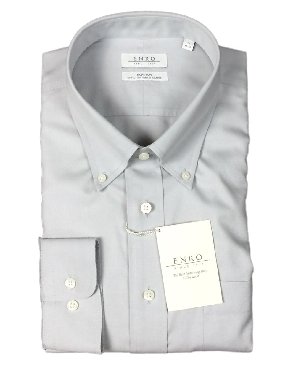 Enro men 39 s 100 cotton non iron button down dress shirt ebay for Mens 100 cotton button down shirts