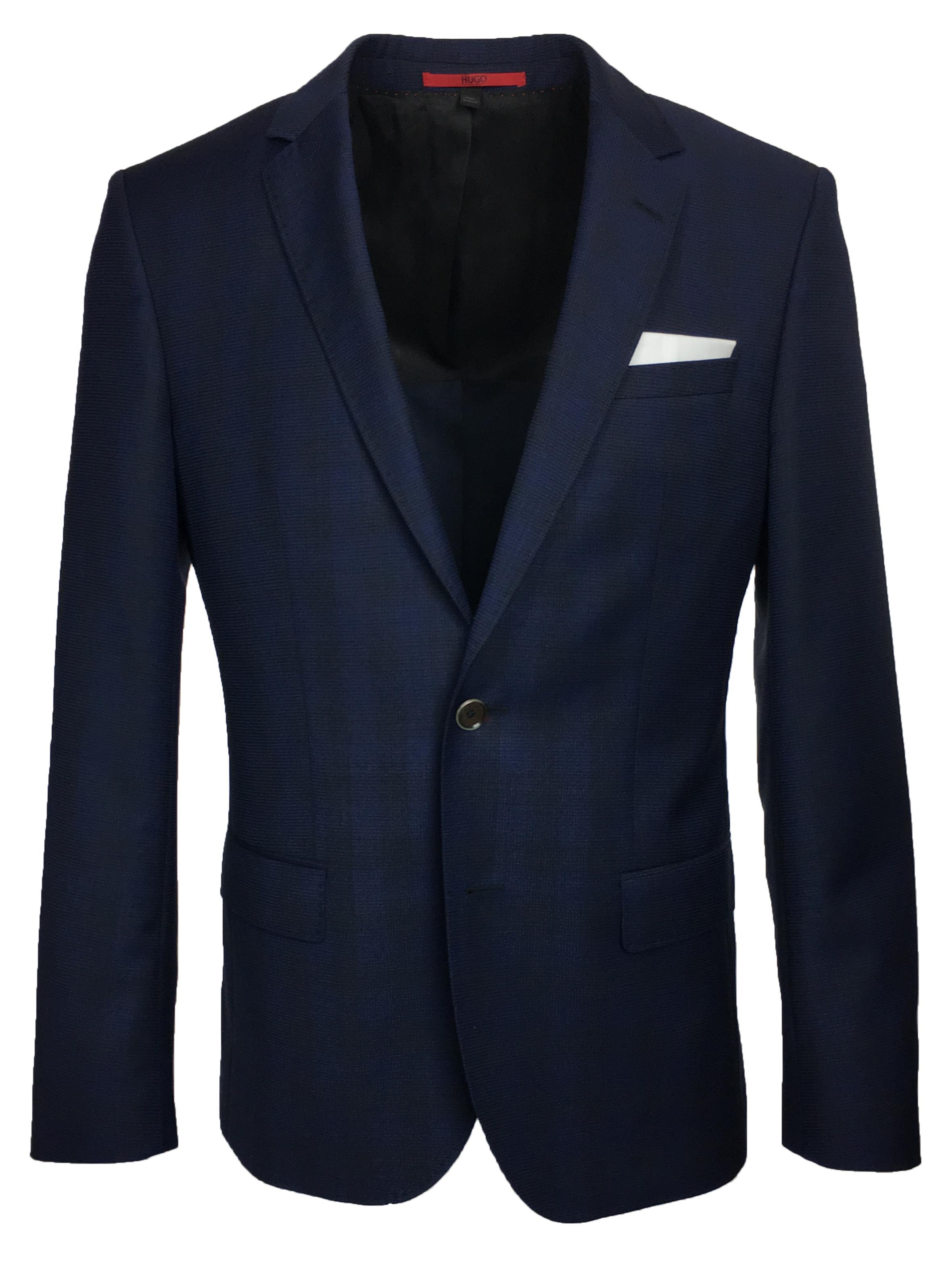 hugo boss men 39 s c hutsons1 slim fit navy sport coat ebay. Black Bedroom Furniture Sets. Home Design Ideas