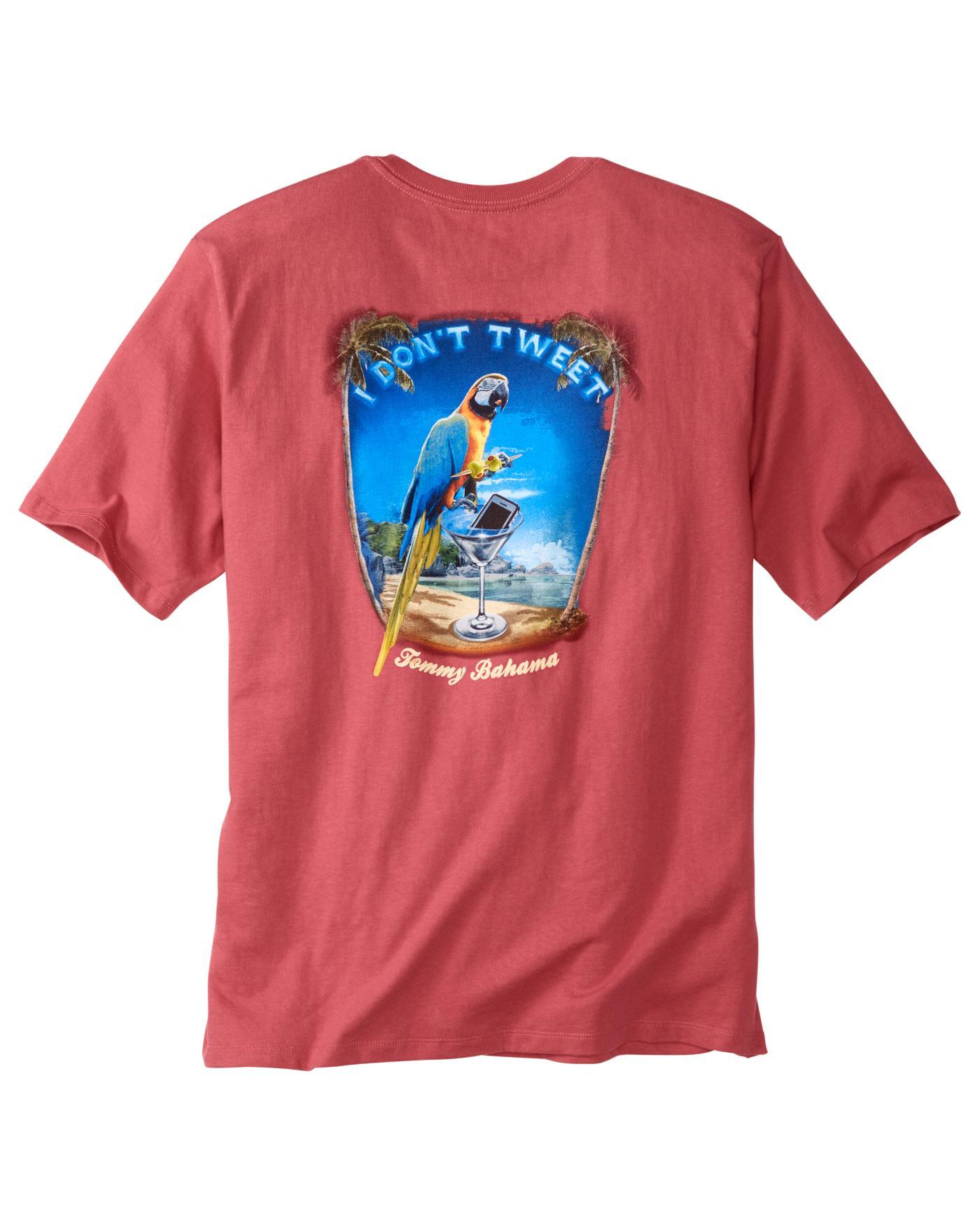 Tommy bahama i don 39 t tweet t shirt ebay for Custom tommy bahama shirts