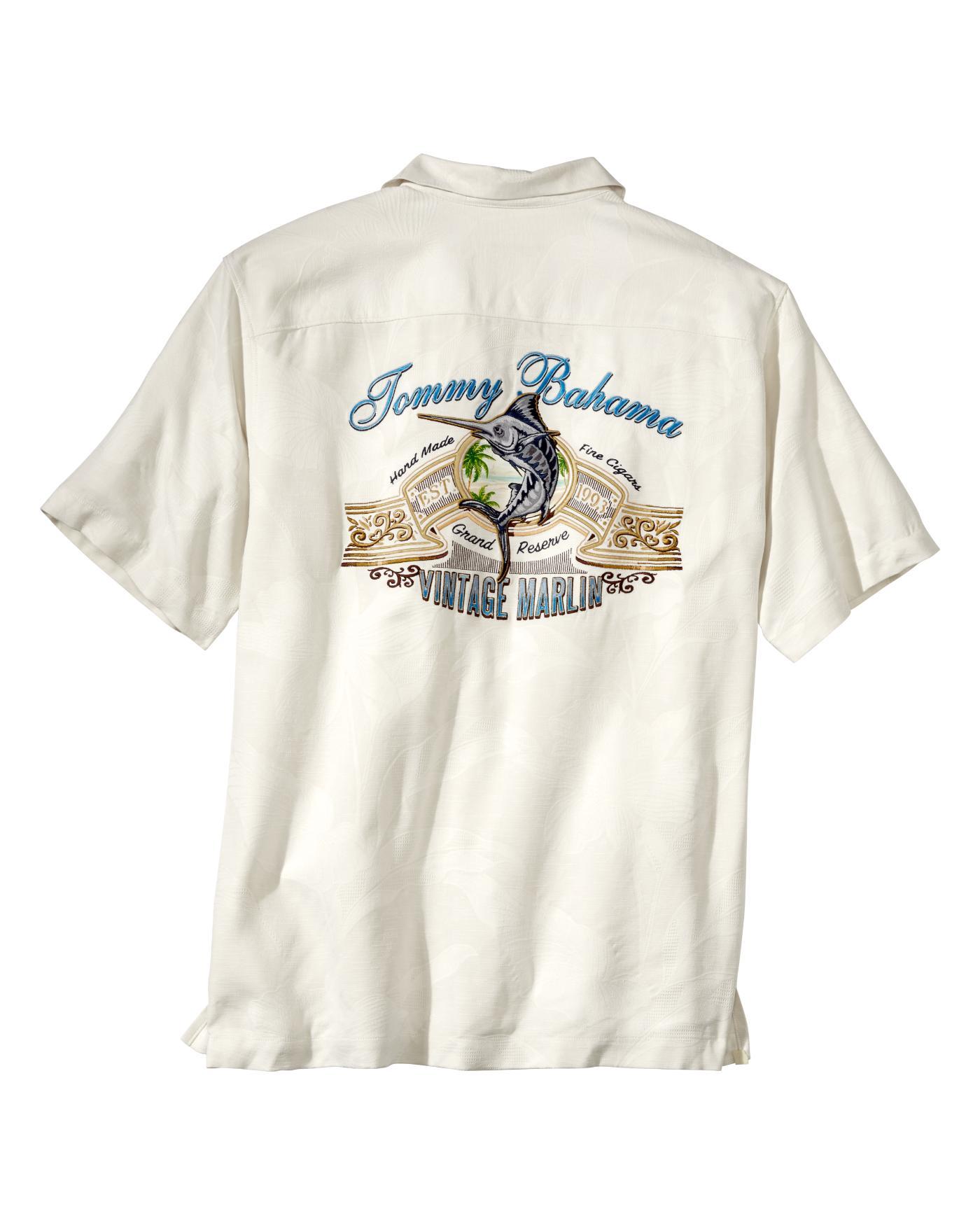 Tommy Bahama Men 39 S Vintage Marlin Camp Shirt Ebay