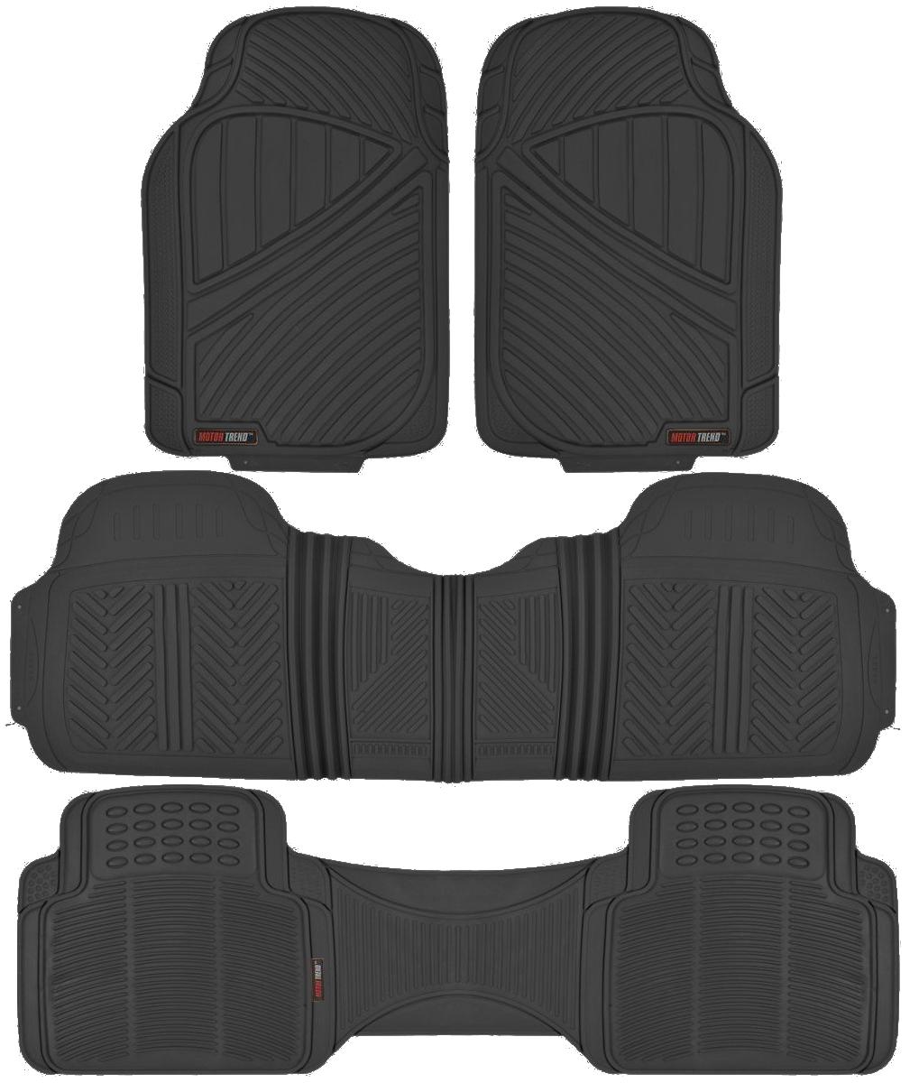Motor Trend Max-Duty Van Truck Floor Mats Black Odorless All Weather Full Set