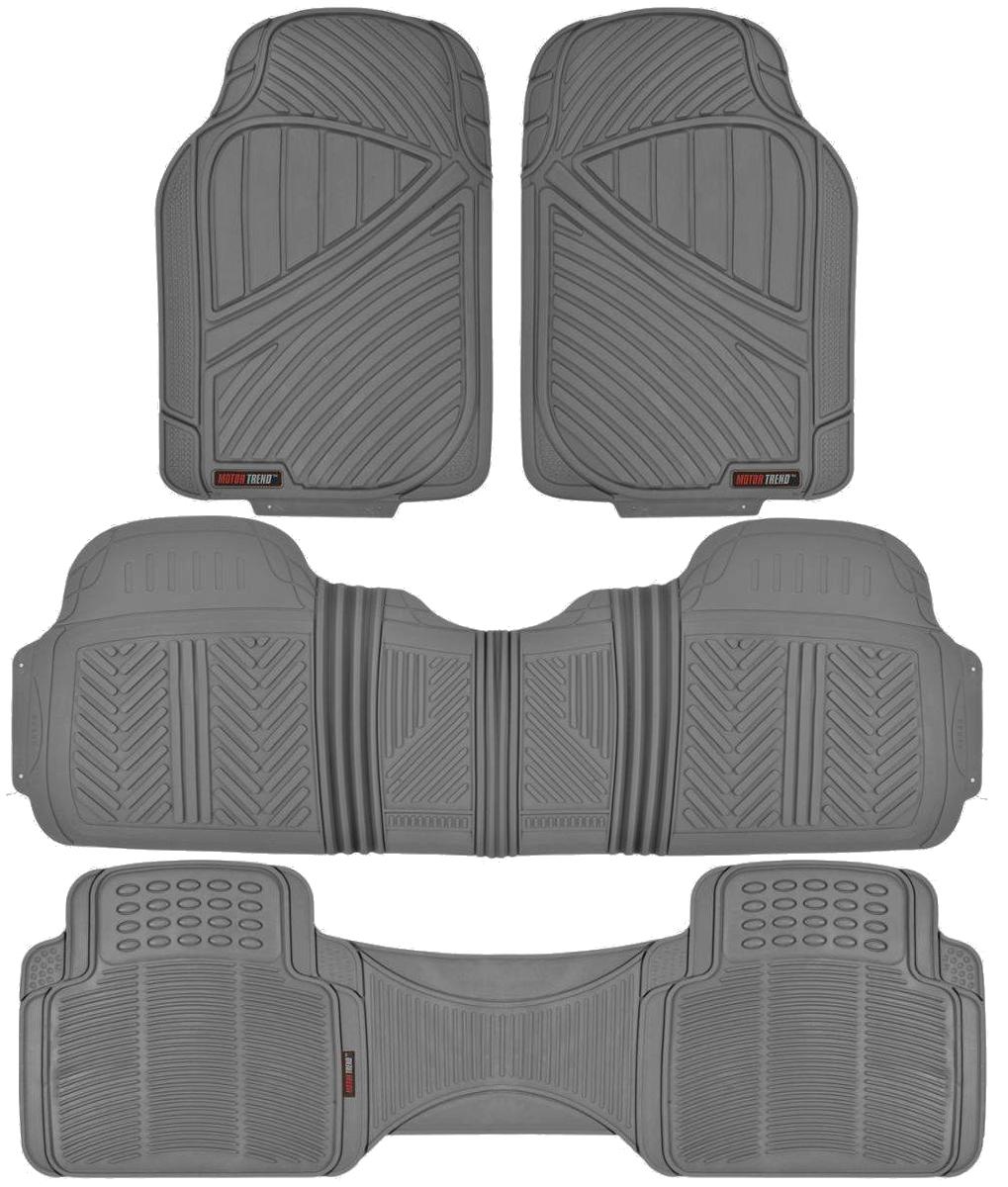 Motor trend max duty van truck floor mats gray odorless for Motor trend floor mats review