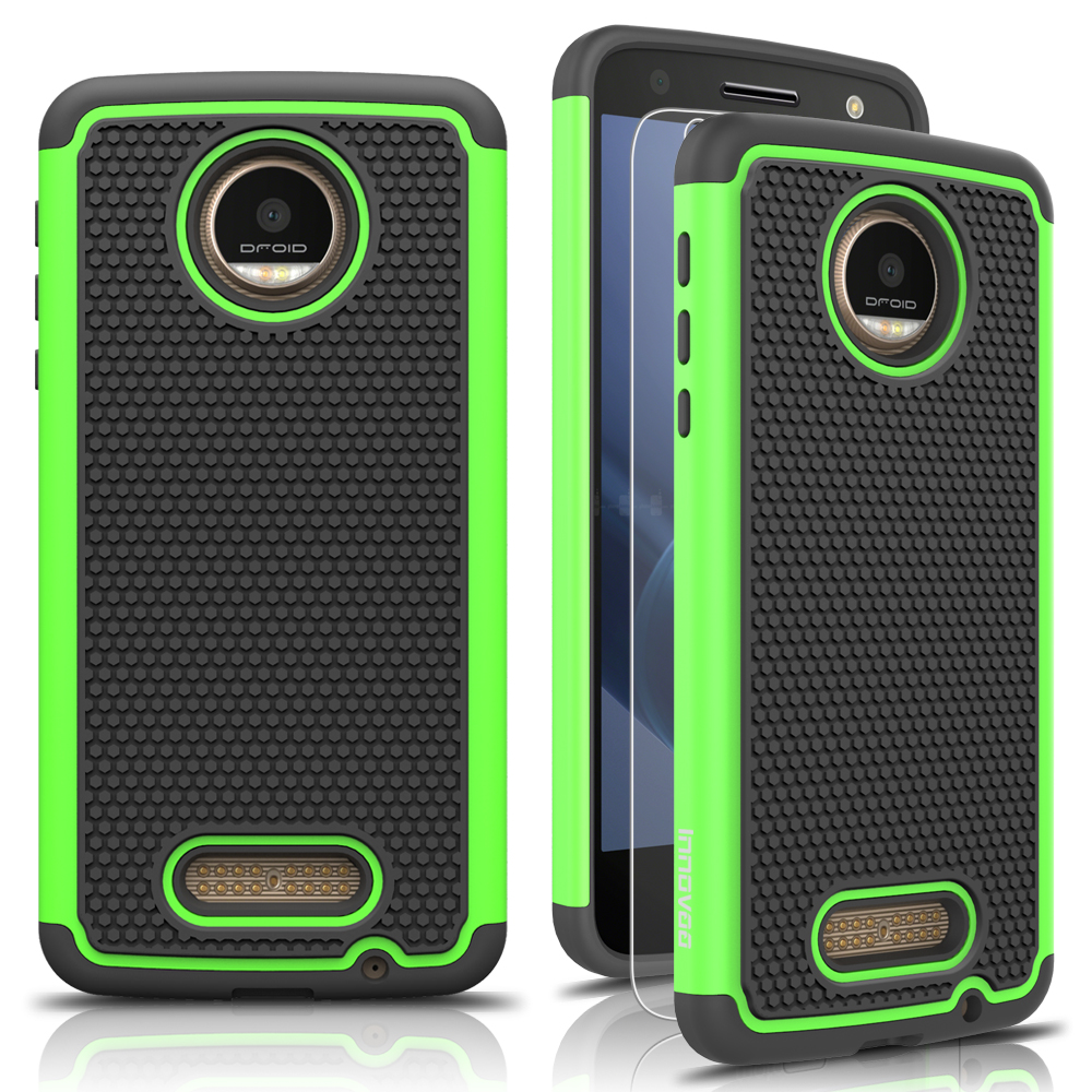 motorola moto z force droid edition case innovaa smart grid defender armor case ebay. Black Bedroom Furniture Sets. Home Design Ideas