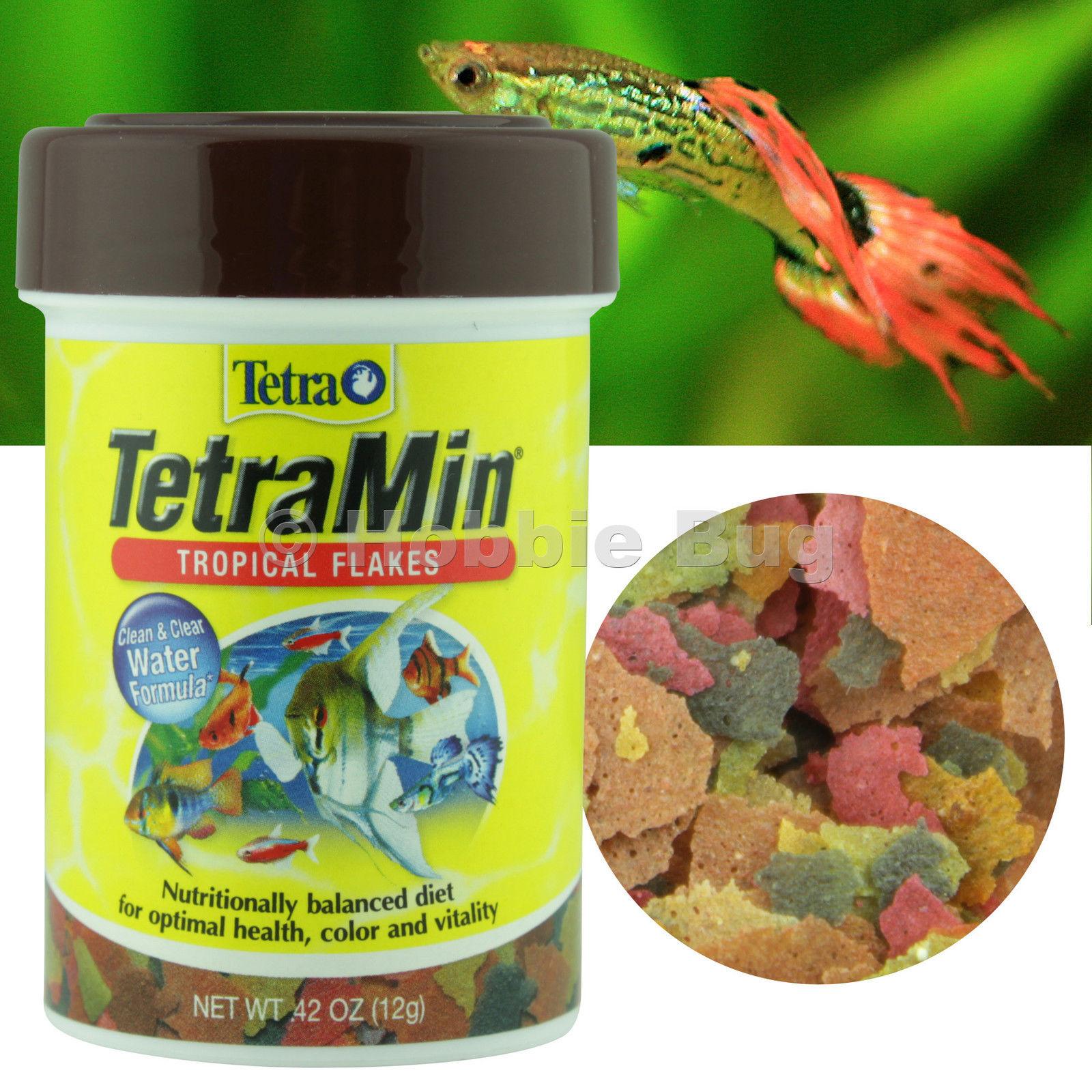 Tetra tetramin fresh water aquarium tank tropical for Fish food flakes