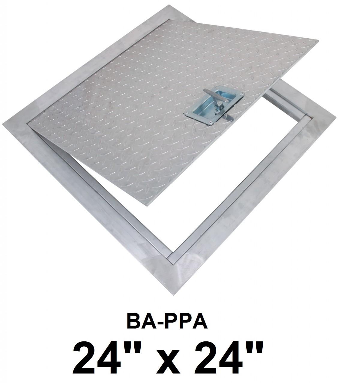 Floor Access Hatch BA-PPA 24 x 24 Flush Aluminum – BEST