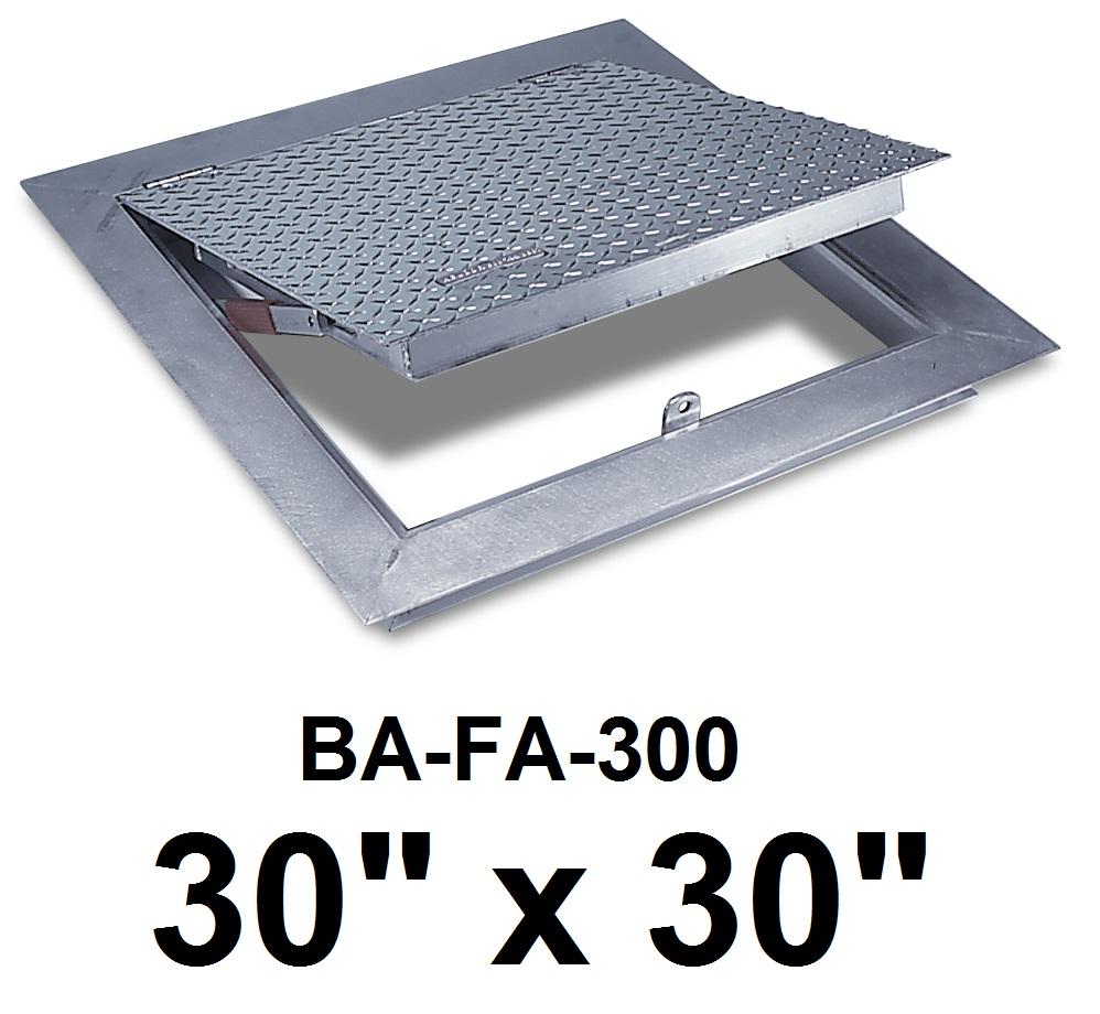 30″ x 30″ Flush Floor Door – Cast in place -300 lbs /sq ft – BEST