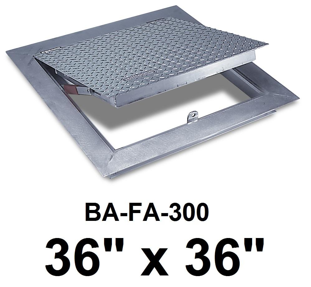 36″ x 36″ Flush Floor Door – Cast in place -300 lbs /sq ft – BEST