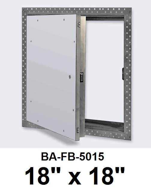18″ x 18″ Fire Rated Un-Insulated Recessed Door for Drywall – BEST