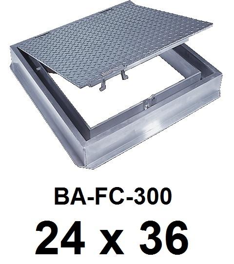 24″ x 36″ Watertight Floor Door – Cast in place – 300 lbs / sq ft loading – BEST