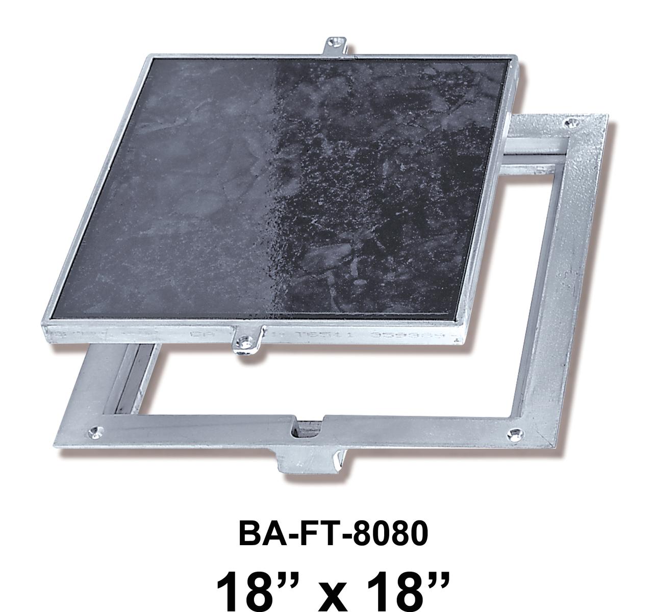 18″ x 18″ Removeable Floor Door – 1/8″  Recess for Vinyl Tile / Carpet – BEST