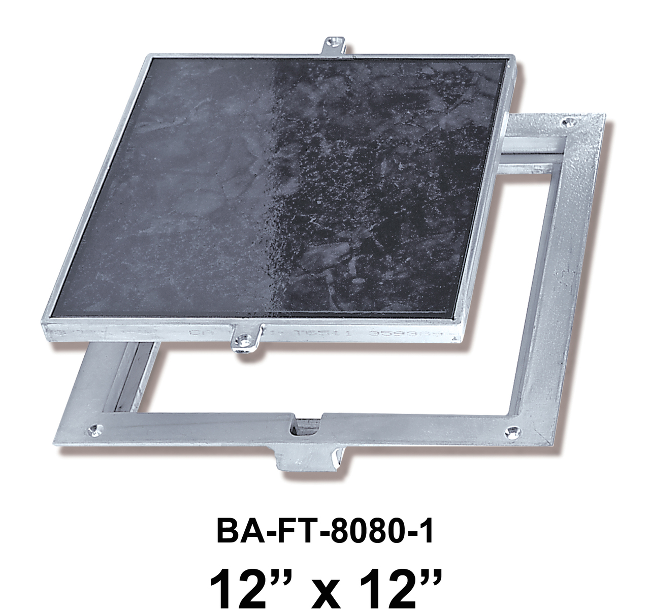 12″ x 12″ Removeable Floor Door – 1″ Recess for Ceramic Tile / Concrete – BEST