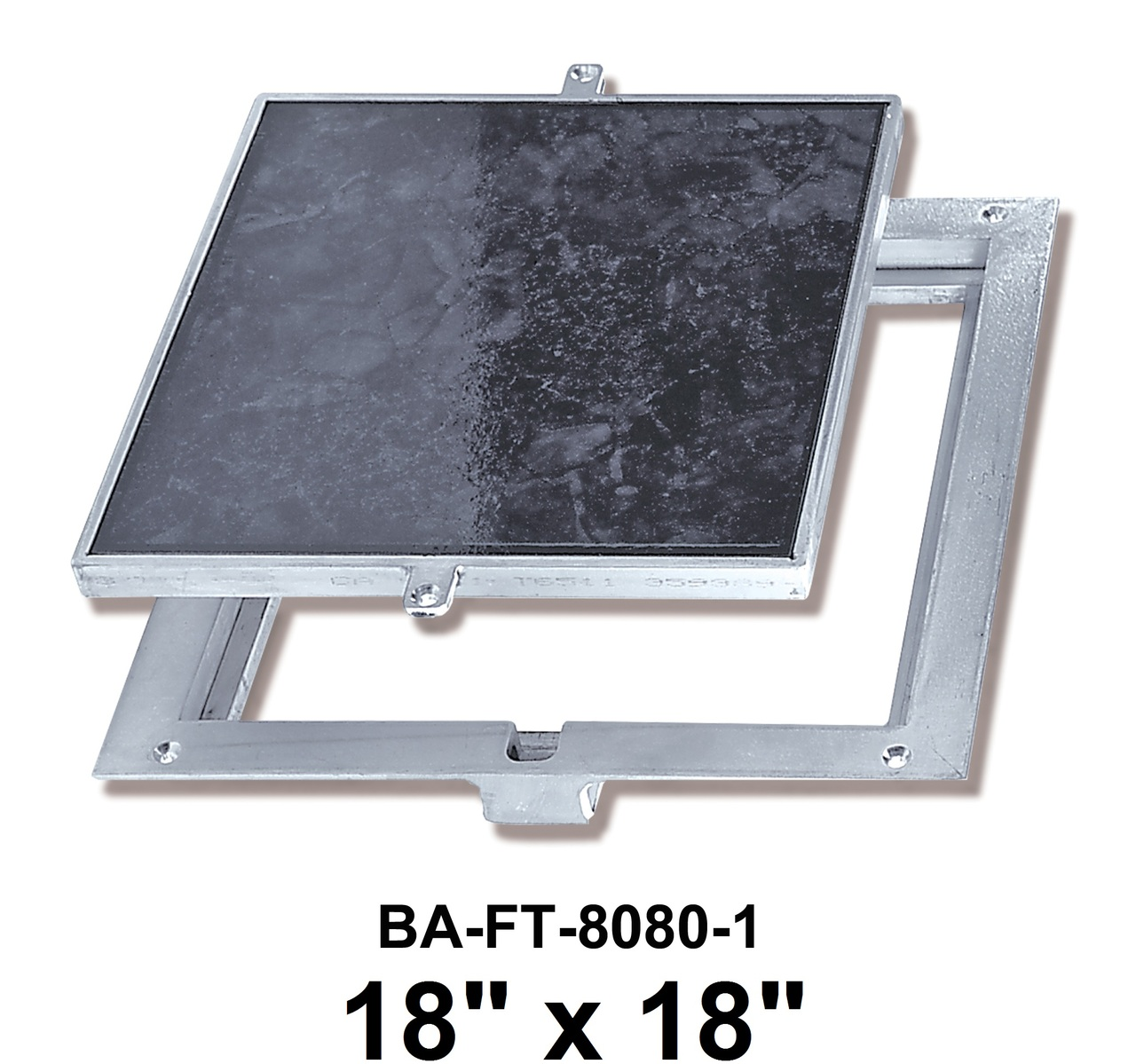 "18"" x 18"" Removeable Floor Door - 1"" Recess for Ceramic Tile / Concrete - BEST"